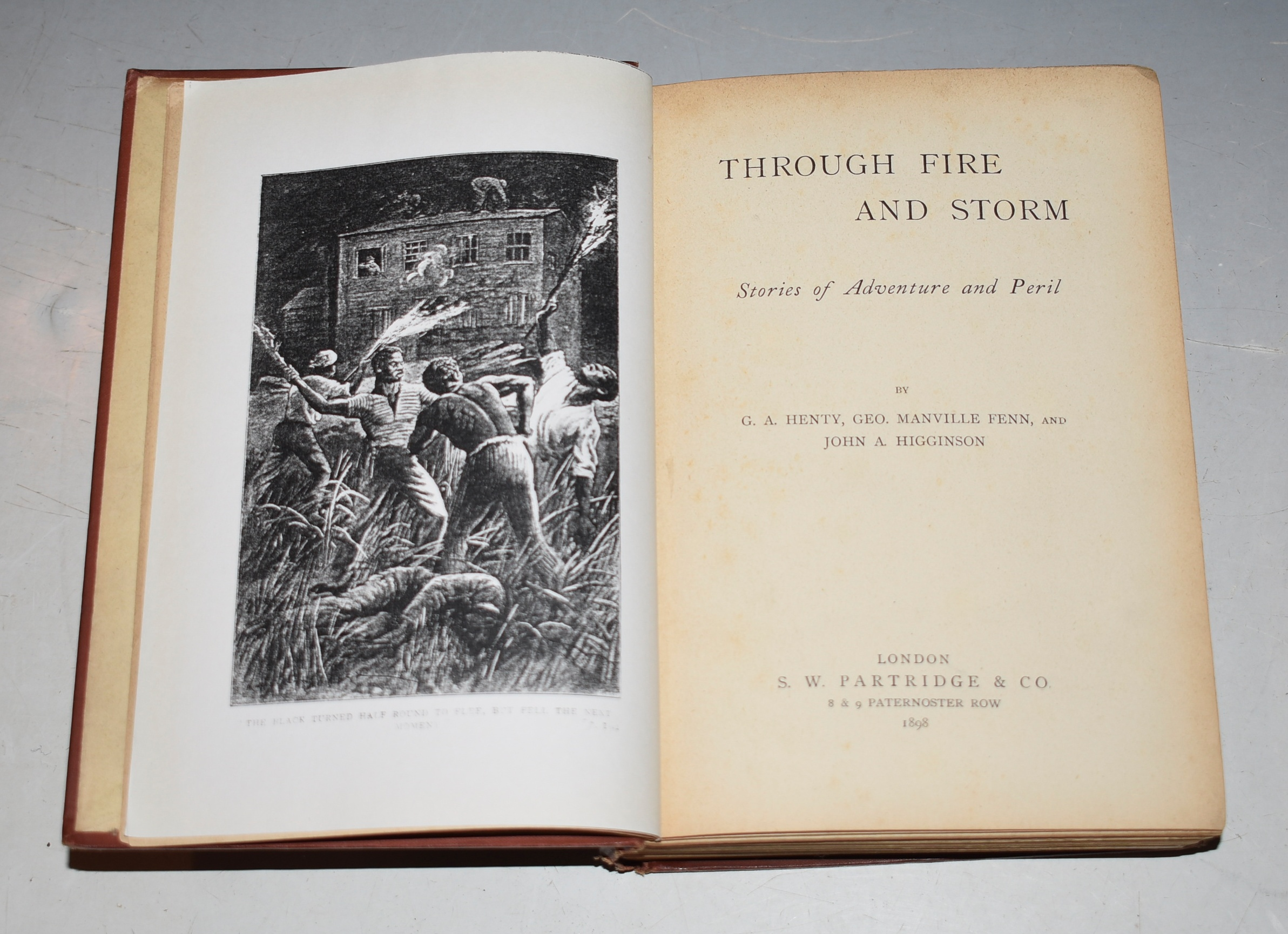 "Image for THROUGH FIRE AND STORM: or, ""A Desperate Gang"" (pp. 7-98). Stories of Adventure and Peril, by G.A. Henty, Geo. Manville Fenn, and John A. Higginson."