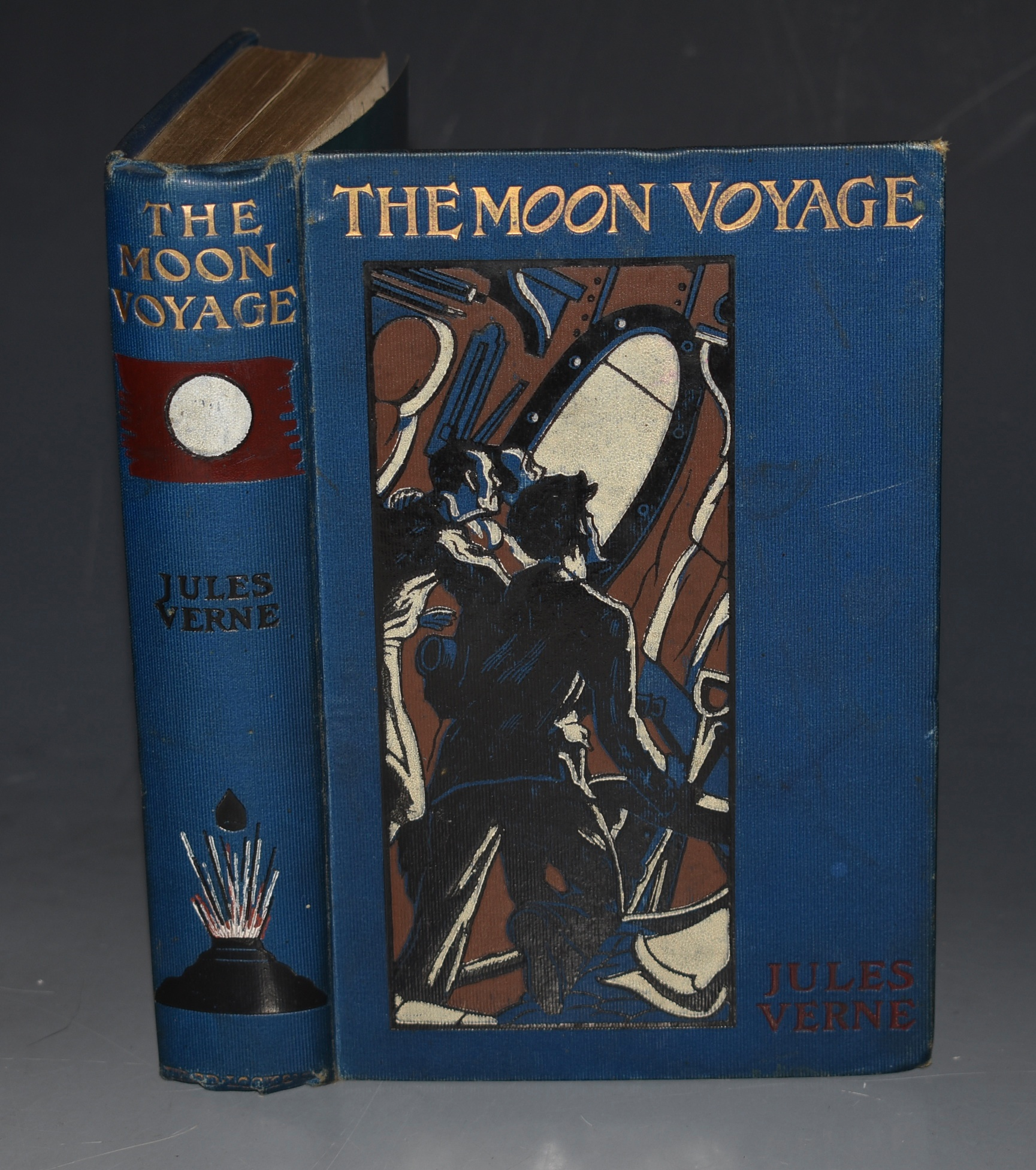 "Image for The Moon-Voyage, containing: ""From the Earth to the  Moon"", and ""Round the Moon"". Illustrated by Henry Austin."