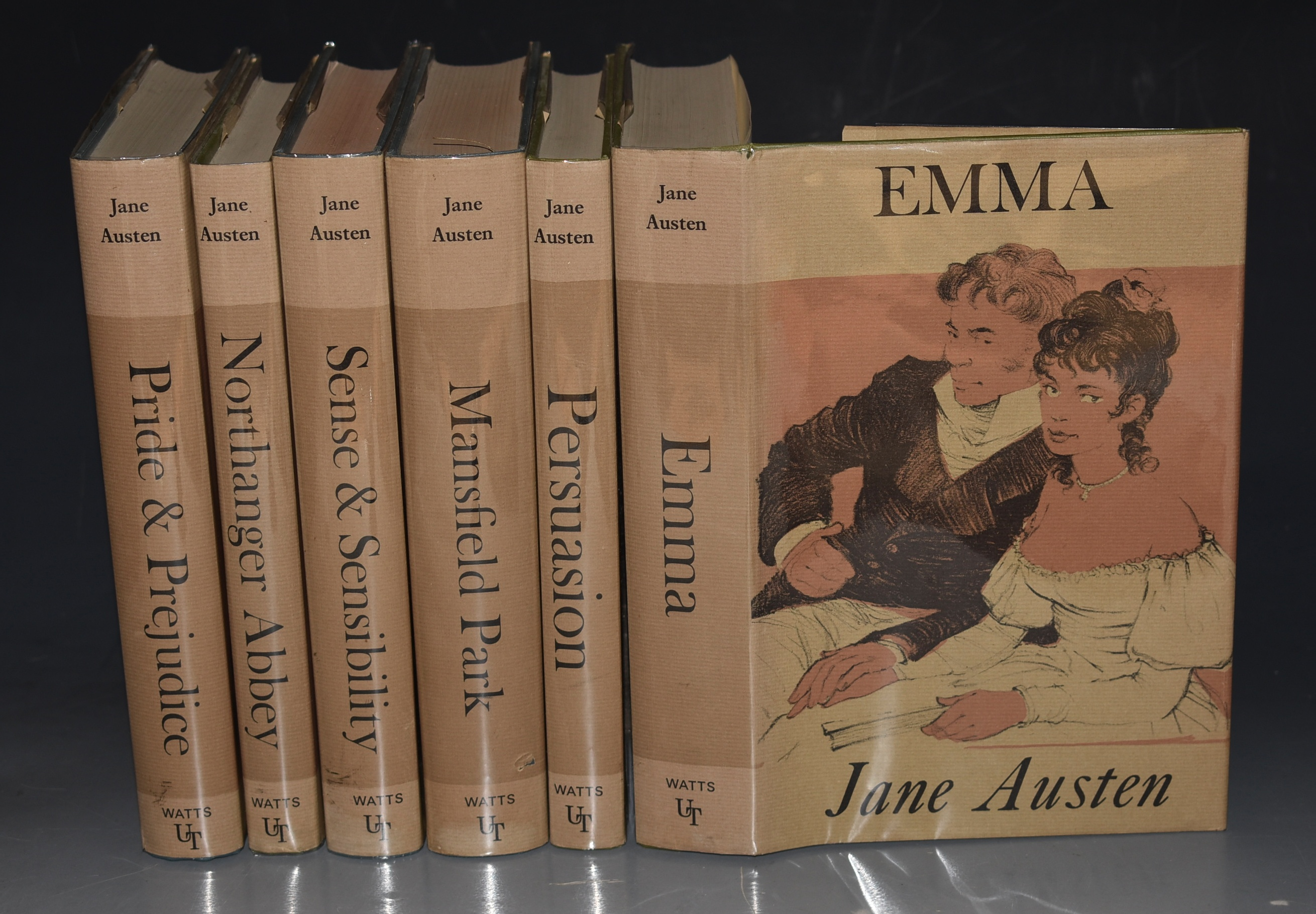 Image for Jane Austen's Works in Six Volumes. Pride & Prejudice / Northanger Abbey / Persuasion / Emma / Sense & Sensibility / Mansfield Park. [Large print edition].