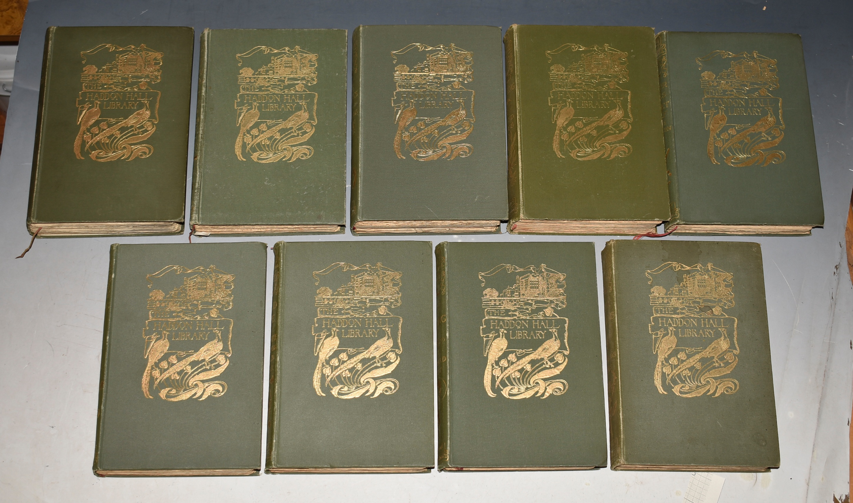 Image for A complete set of The Haddon Hall Library.] Comprising: Fly Fishing; Wildlife in Hampshire Higlands; Our Gardens; Our Forests and Woodlands; Hunting; Outdoor Games (Cricket & Golf); Bird Watching; Shooting; Farming. The Haddon Hall Library.