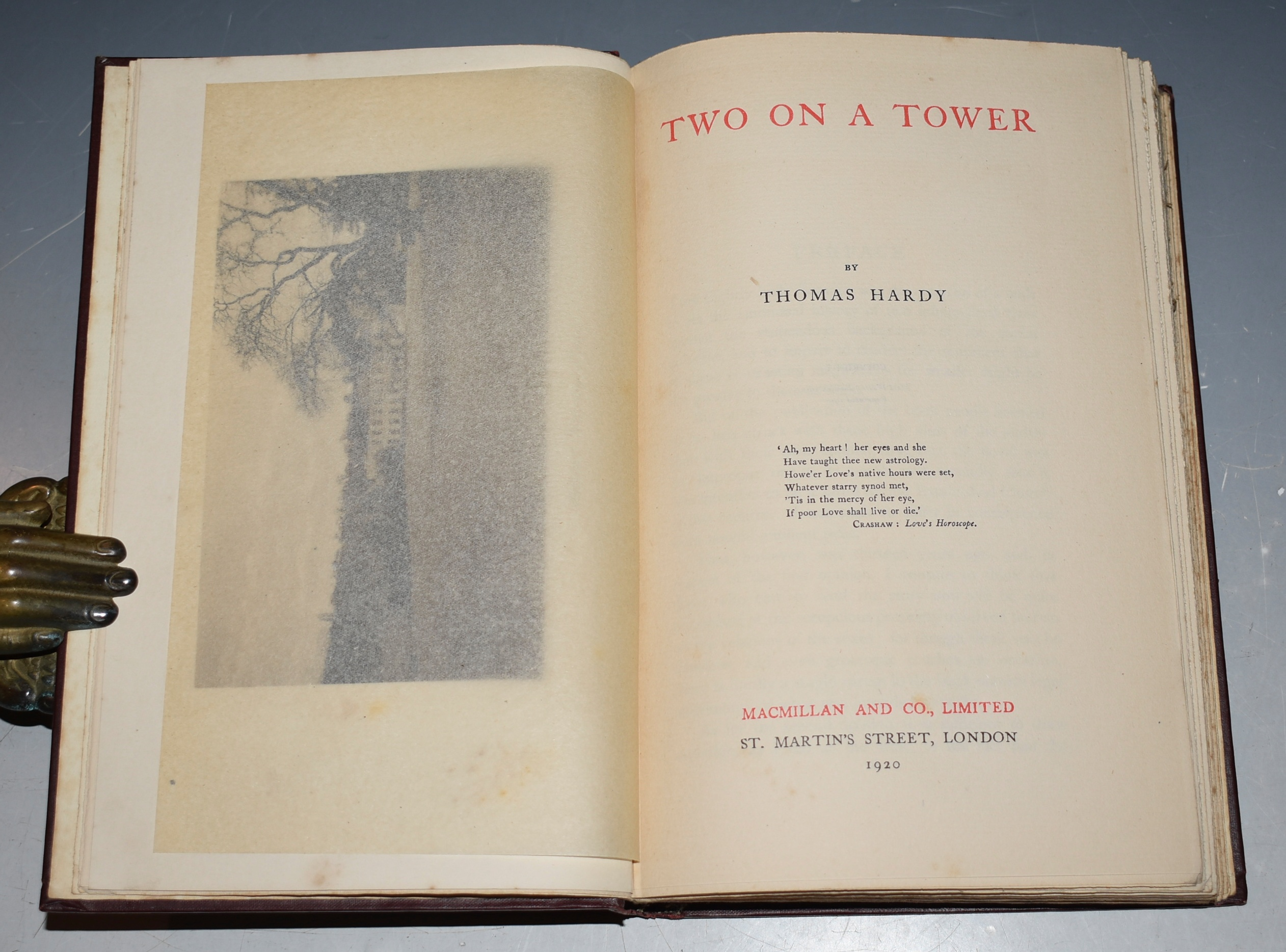 Image for Two on a Tower (The Wessex Edition). The Works of Thomas Hardy in Prose and Verse, Prose Vol. XII