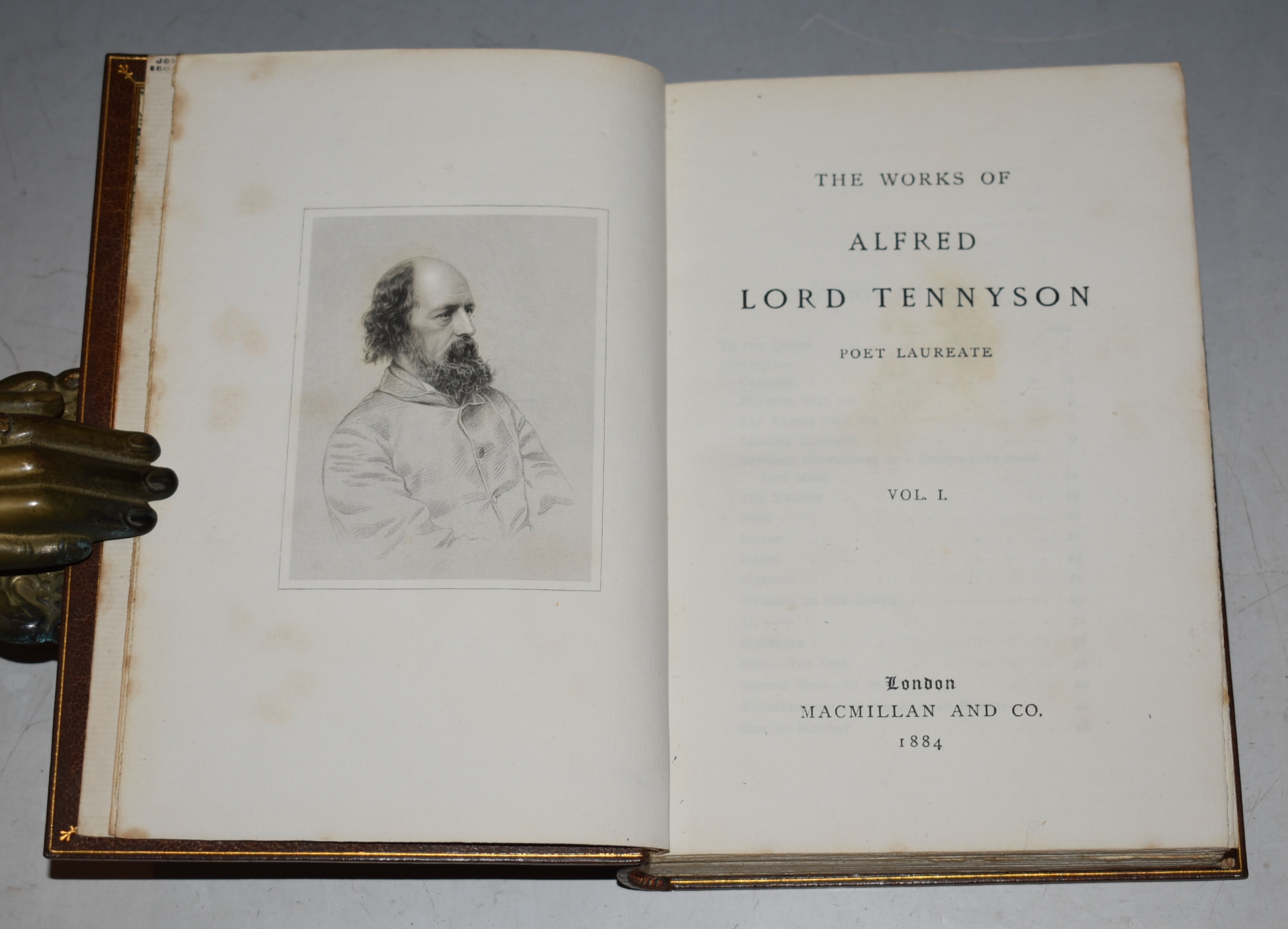 Image for The Works of Alfred Lord Tennyson. Poet Laureate. Complete Set of Ten Volumes.
