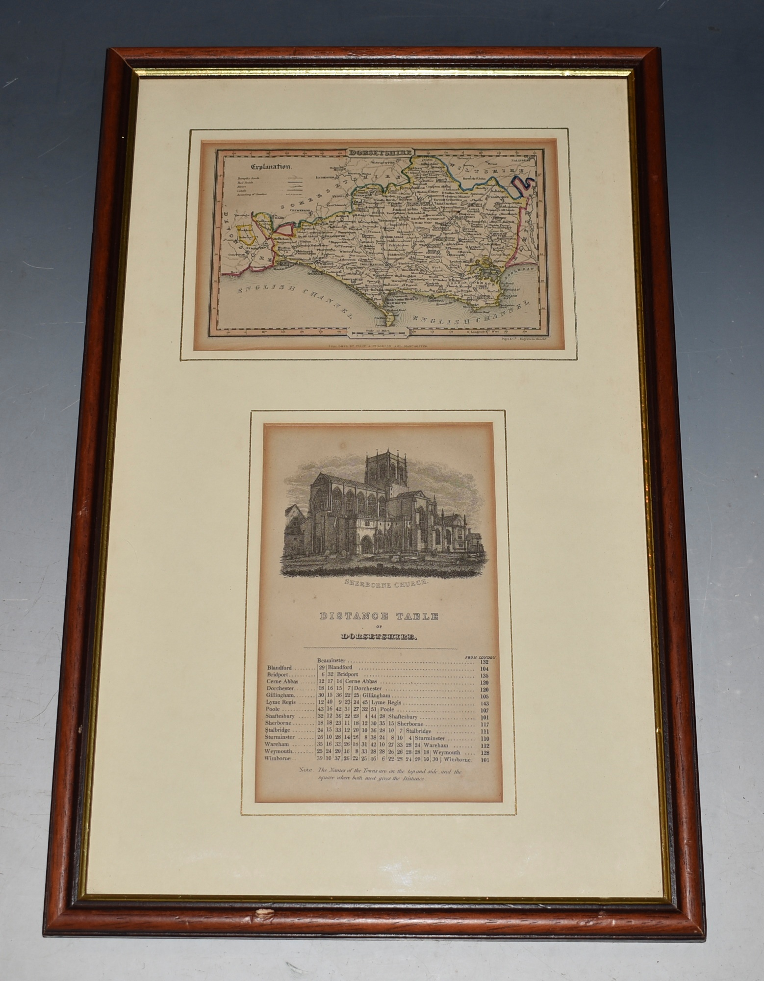 Image for Attractive copper-engraved  map of Dorsetshire. Dorset