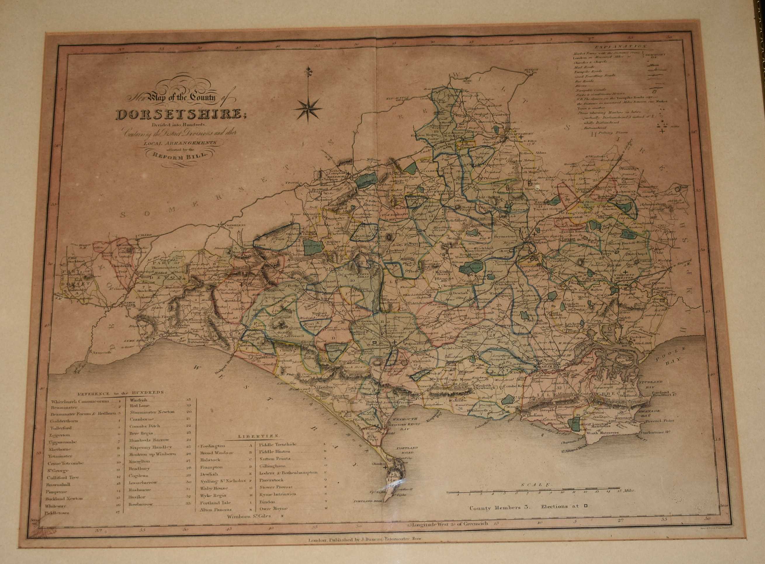 Image for Steel-engraved  map of Dorsetshire. Dorset