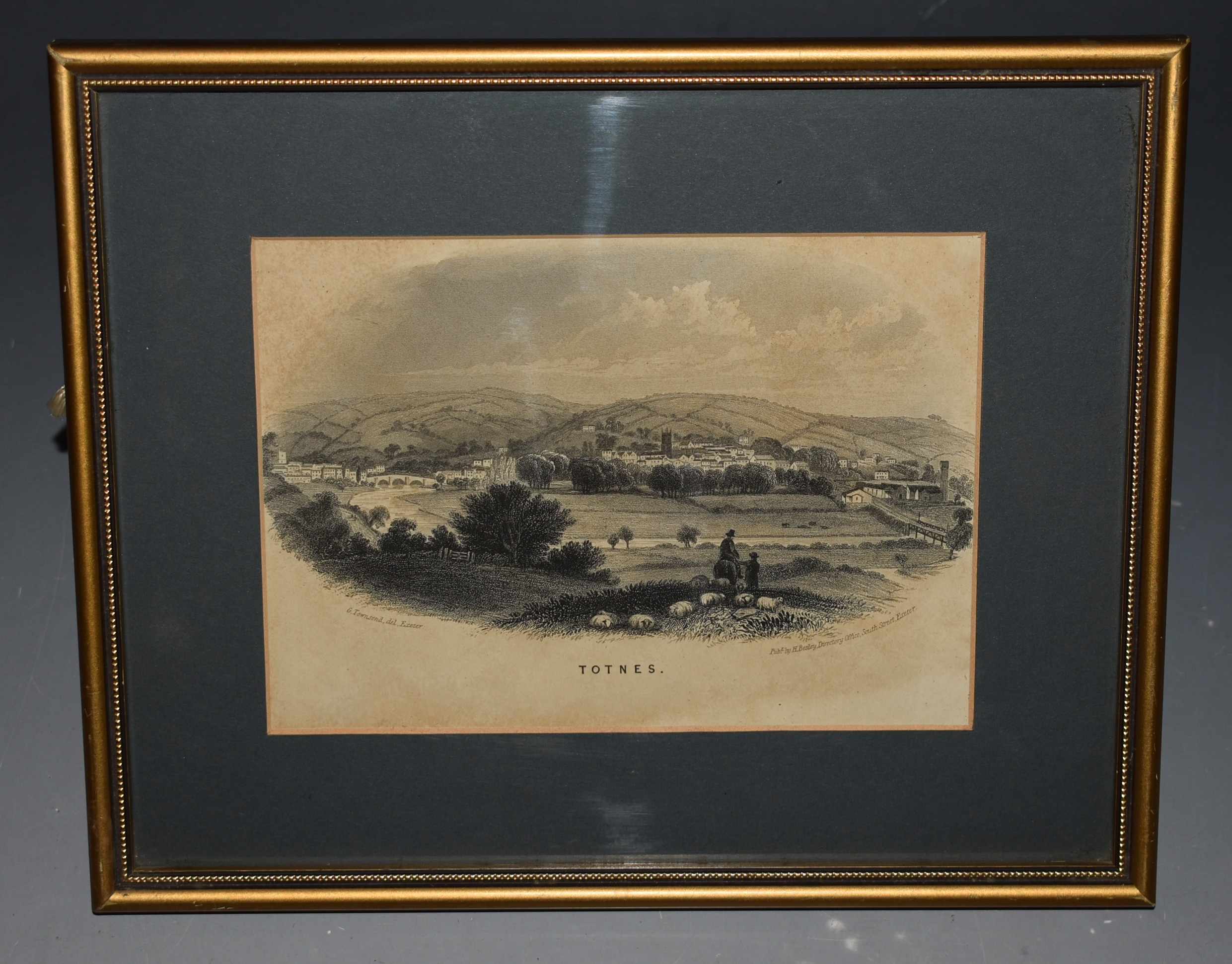 Image for Totnes. Engraving.