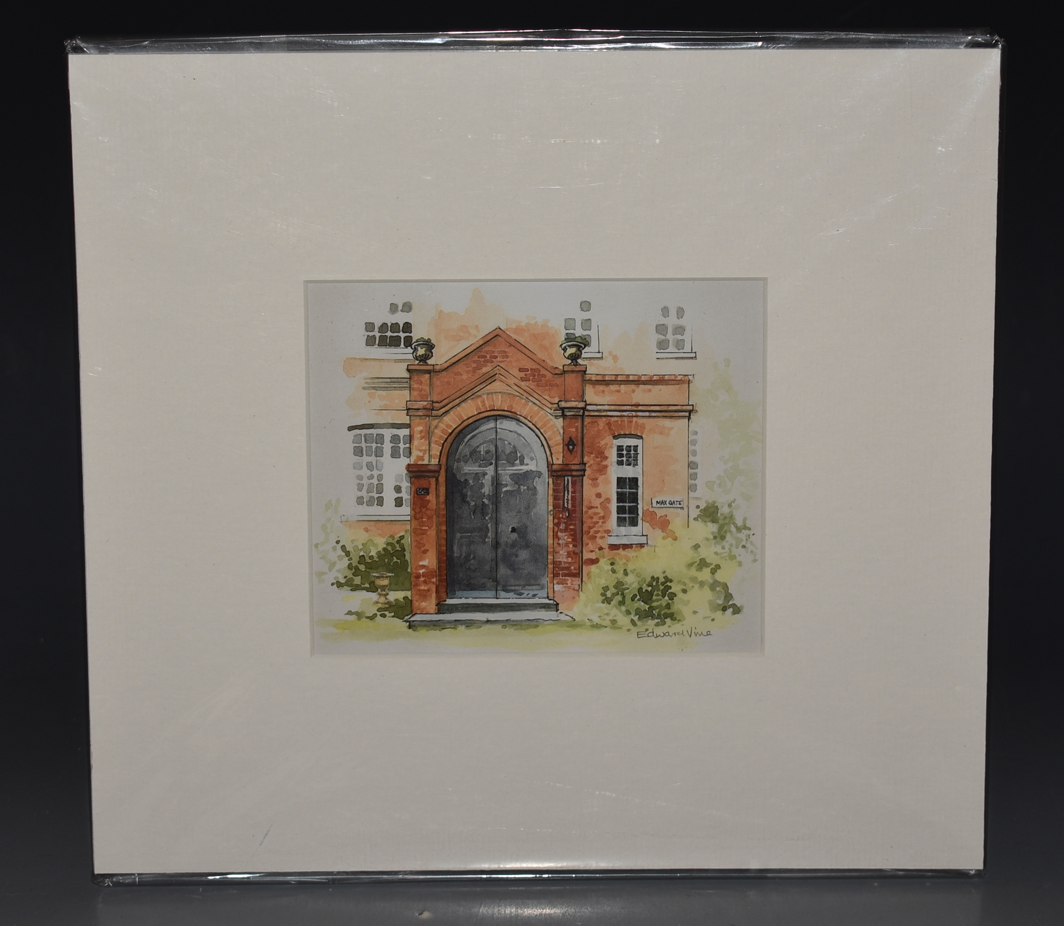 "Image for Signed Print of ""Max Gate"" Thomas Hardy's Residence, Dorchester FRONT ENTRANCE Signed in pencil by Aritist."