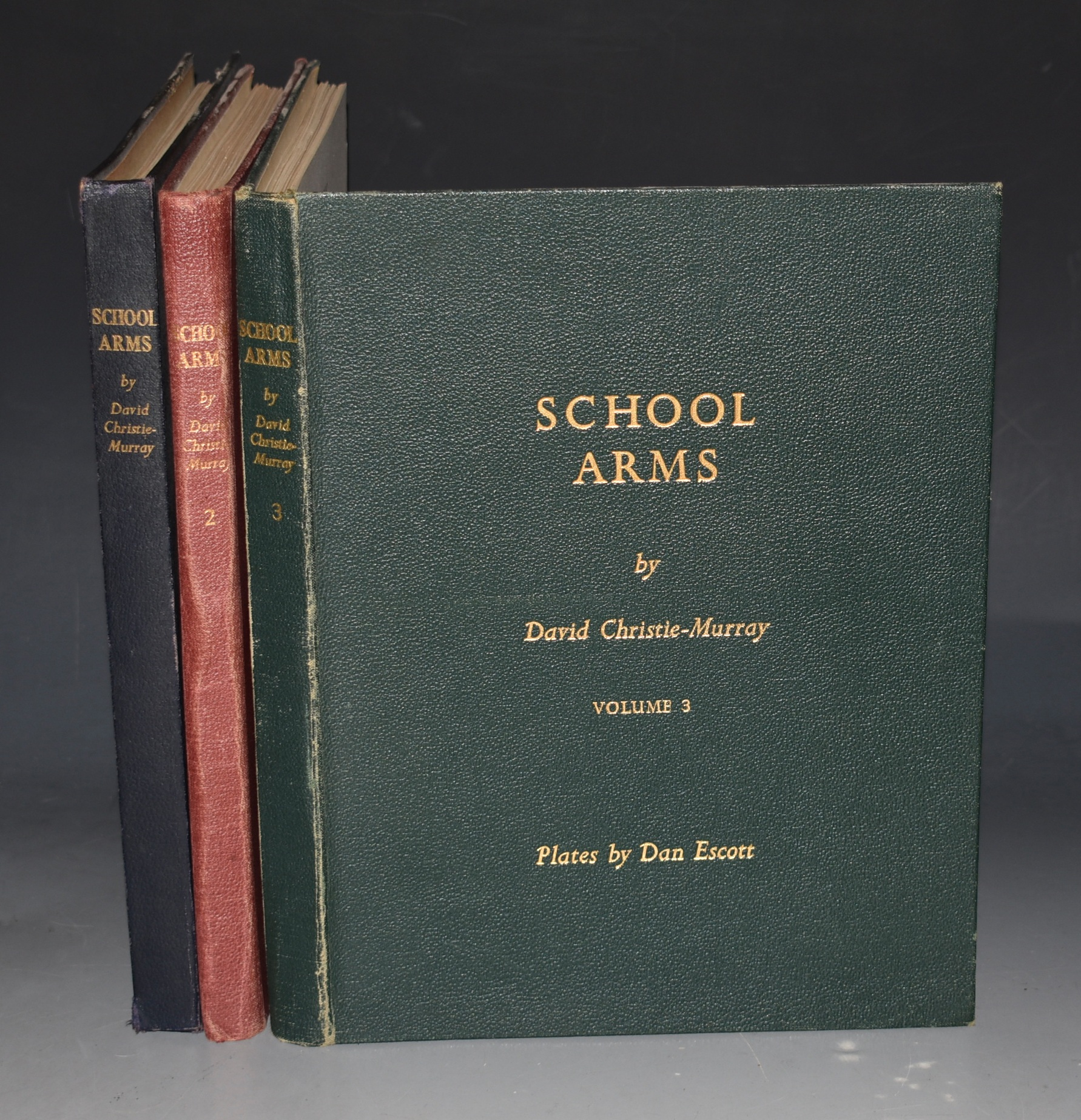 Image for School Arms Plates by Dan Escott. In Three Volumes.
