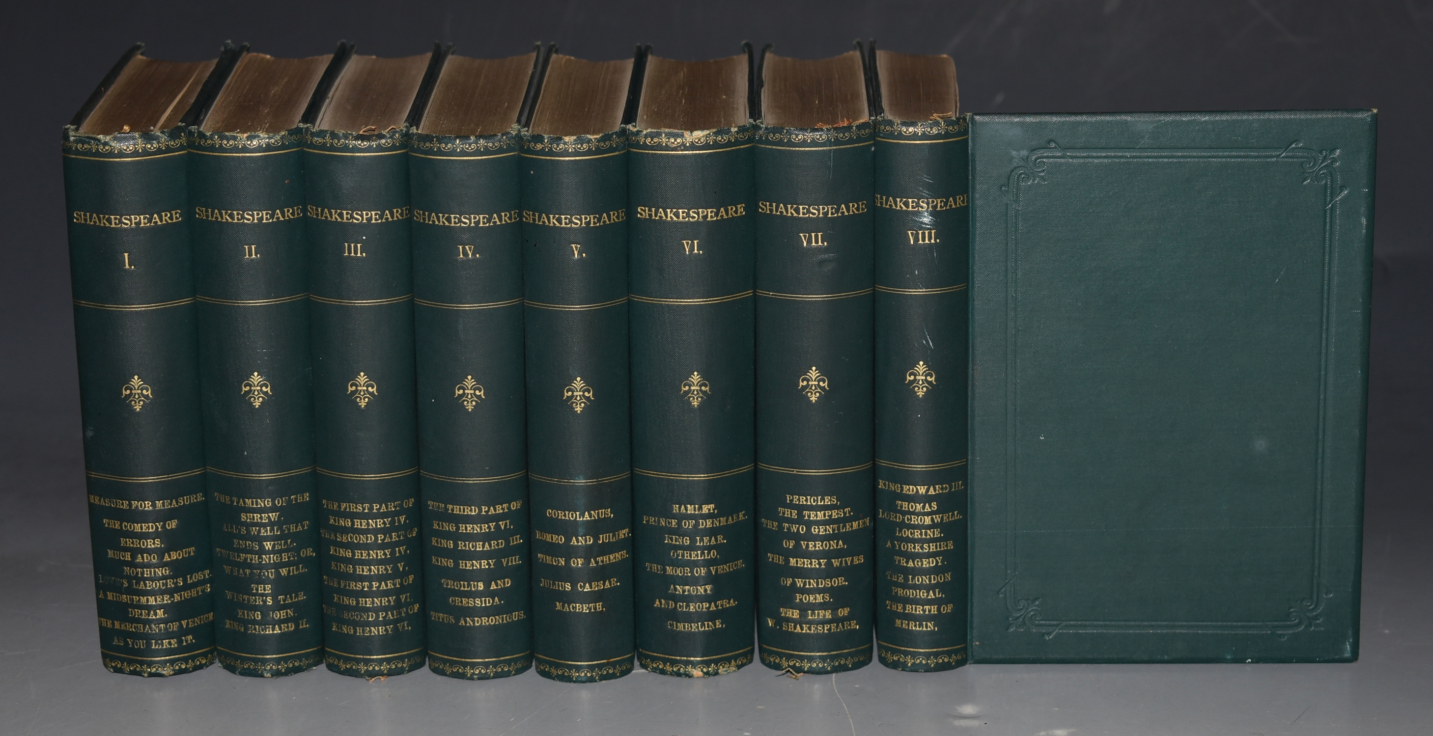 Image for The Works of William Shakespeare, Eight Volume Set. From The Text of The Rev. Alexander Dyce's Second Edition, Complete in Seven Volumes. PLUS: Doubtful Plays, in One Volume. Tauchnitz Collection of British Authors Vols XL - XLVI & 1041.