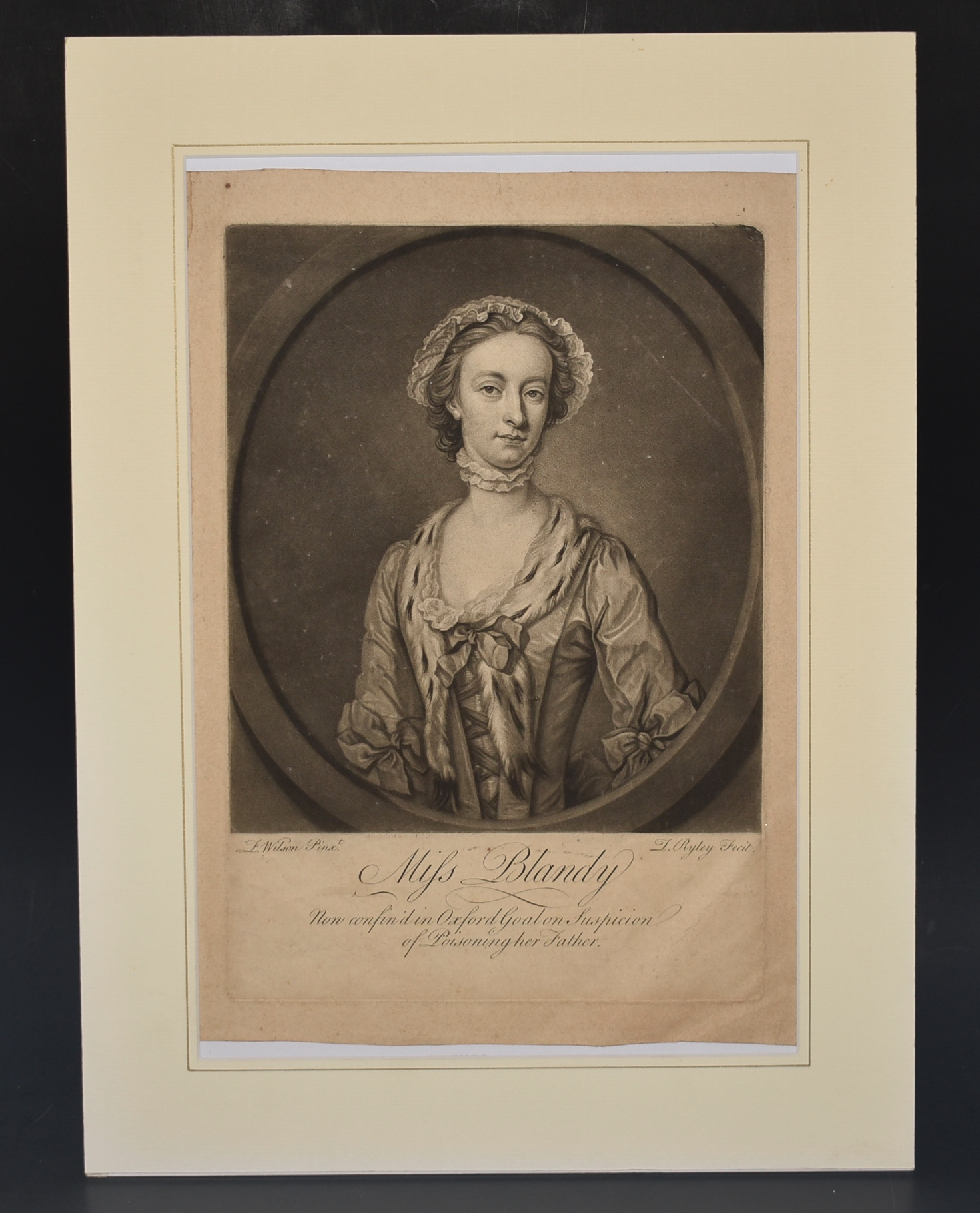 Image for Miss Blandy. Now confined in Oxford Gaol on Suspicion of Poisoning her Father. (Hanged in 1752)