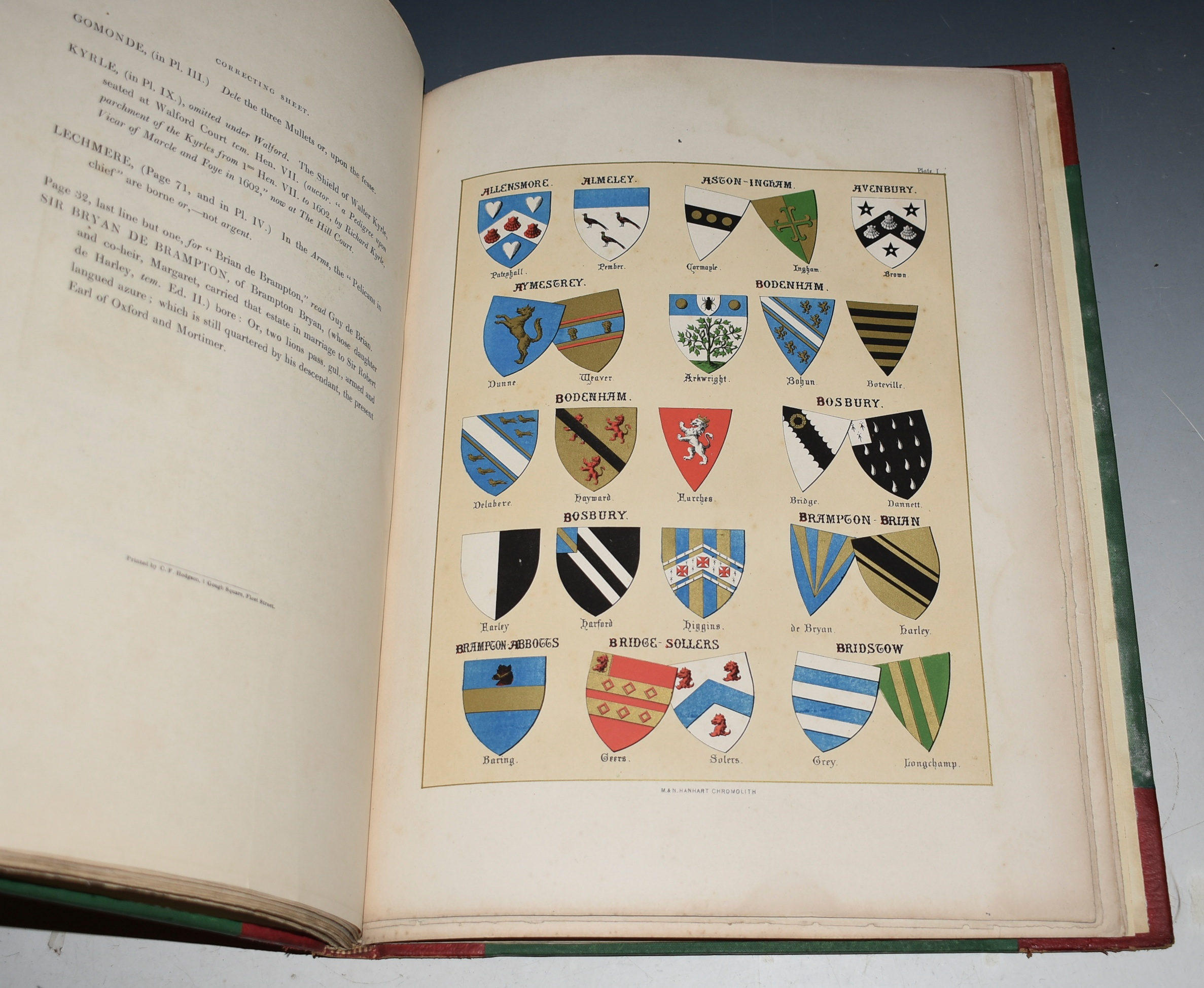 "Image for The Heraldry of Herefordshire: Being a Collection of The Armorial Bearings of Families which have been Seated in the County at various periods down to the present time. Illustrated with Richly Emblazoned Shields. Together with the Commission of the Peace for the Year 1847 &c. Adapted to form a supplement to ""Duncumb's County History."""