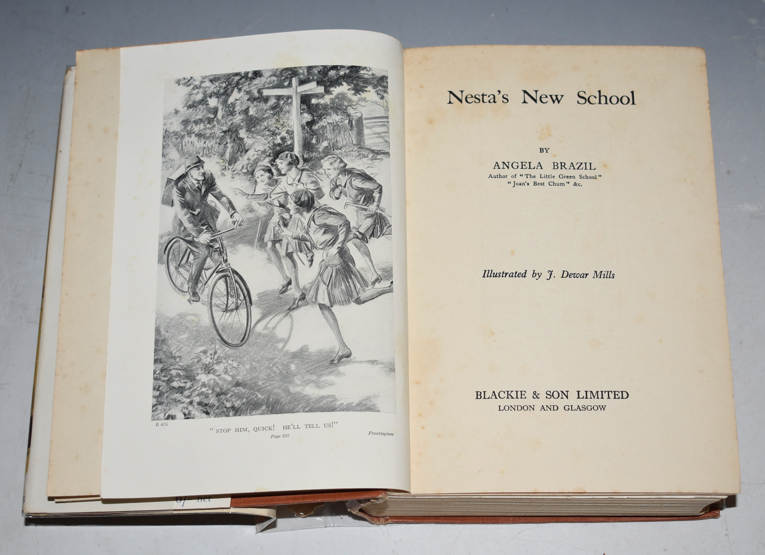 Image for Nesta's New School Illustrated by J. Dewar Mills.