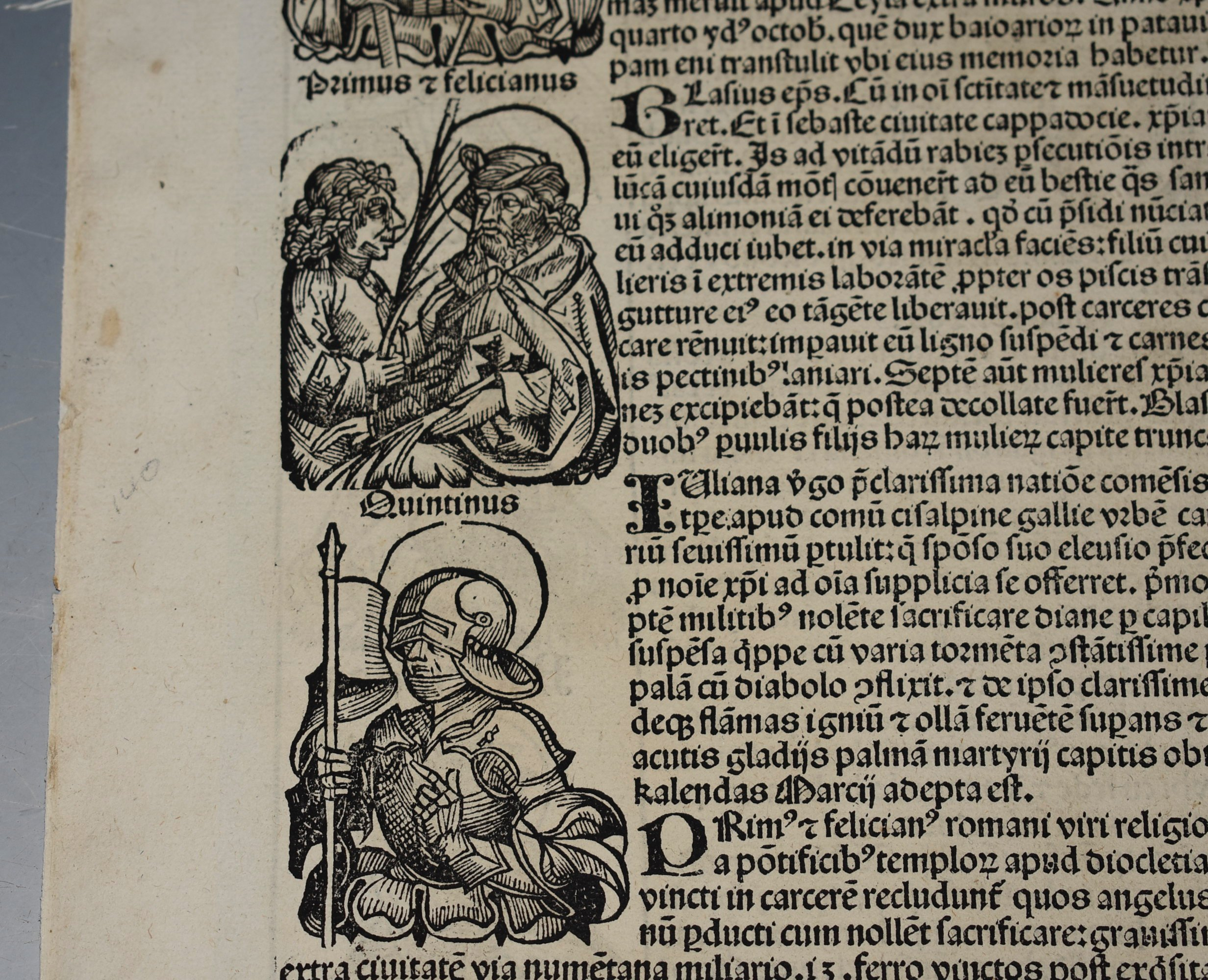 Image for Original Woodcut Leaf of Bishops. LIBER CHRONICARUM- NUREMBERG CHRONICLE, AN INDIVIDUAL PAGE FROM THE CHRONICLE FEATURING LINEAGE OF CHRIST, ATHALIAH, LINEAGE OF ITALIAN AND ISRAELITE KINGS, PLATE NO. CXXVI.