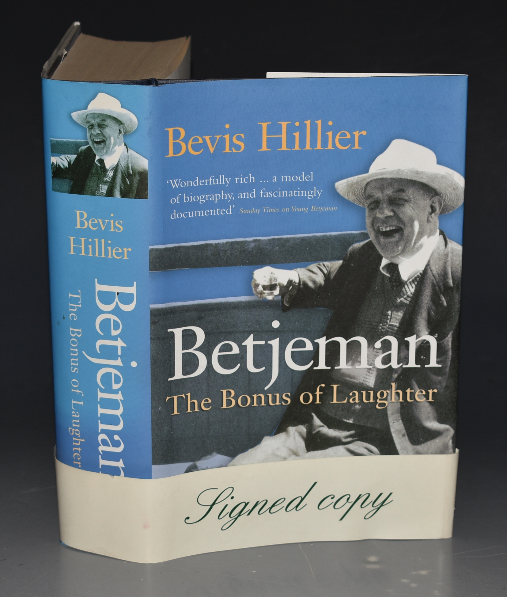 Image for Betjeman, The Bonus of Laughter. SIGNED COPY.