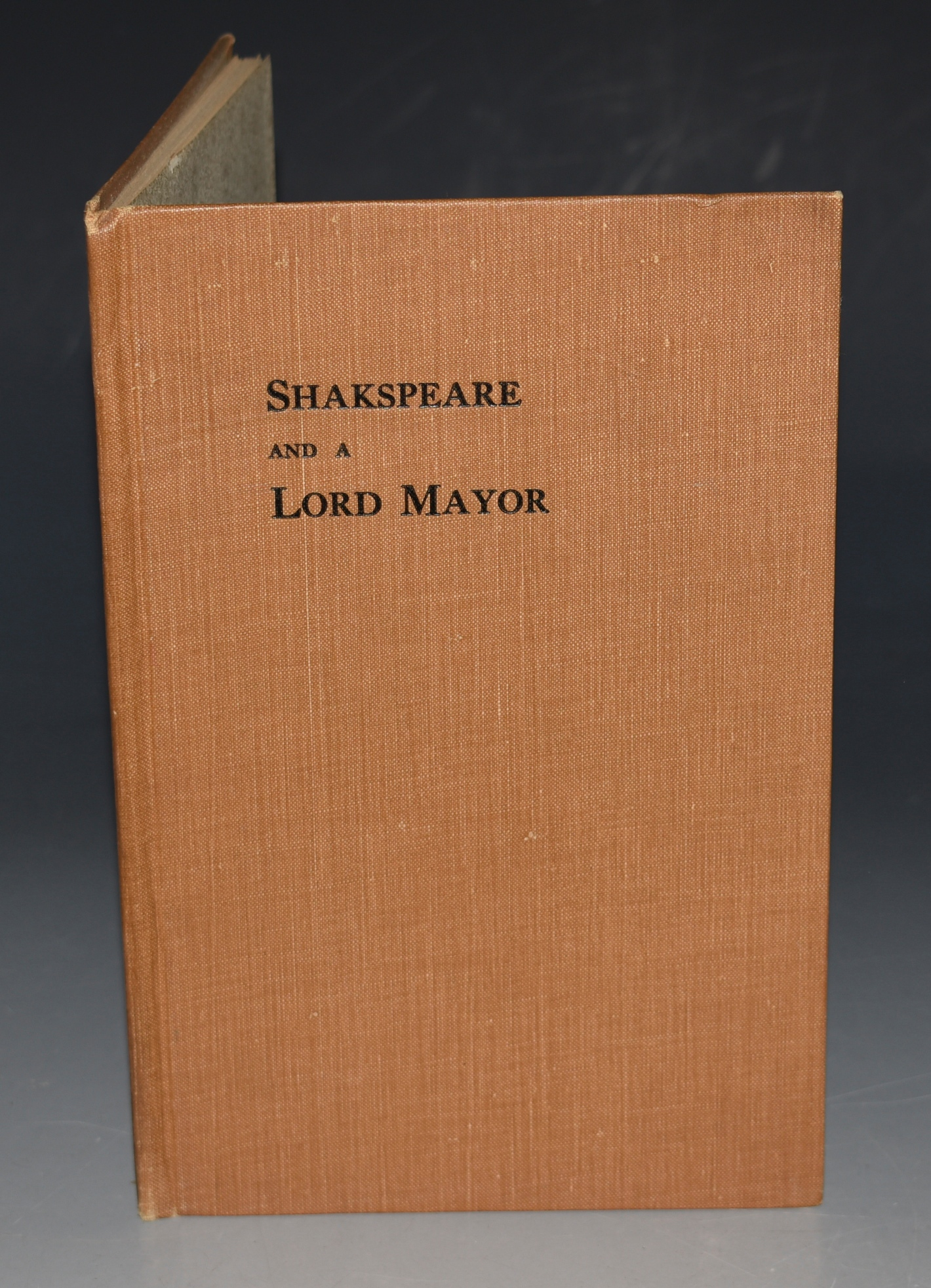 Image for Shakespeare and a Lord Mayor. A Suggestion.
