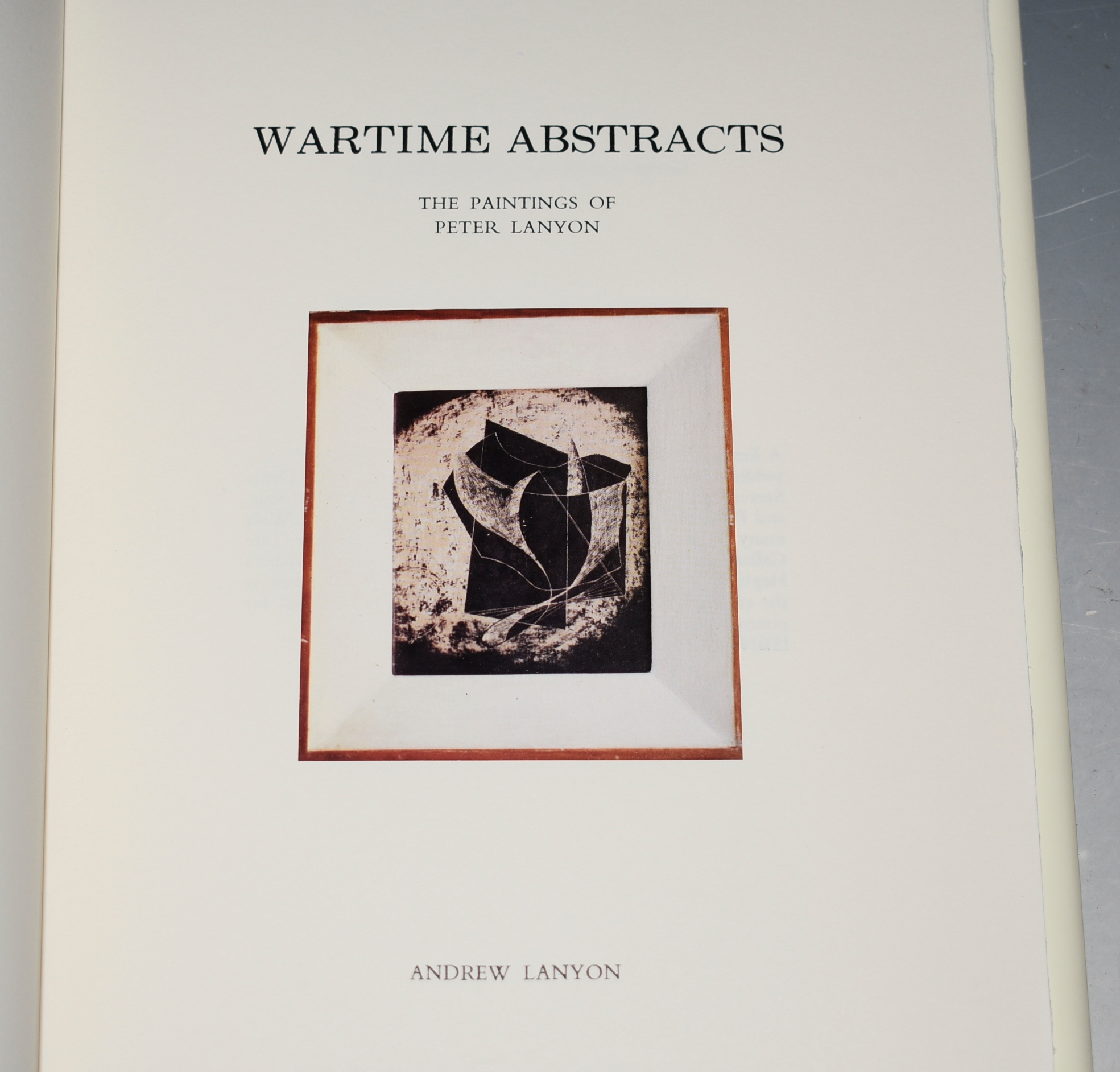 Image for Wartime Abstracts The Paintings of Peter Lanyon. SIGNED. Limited Edition.