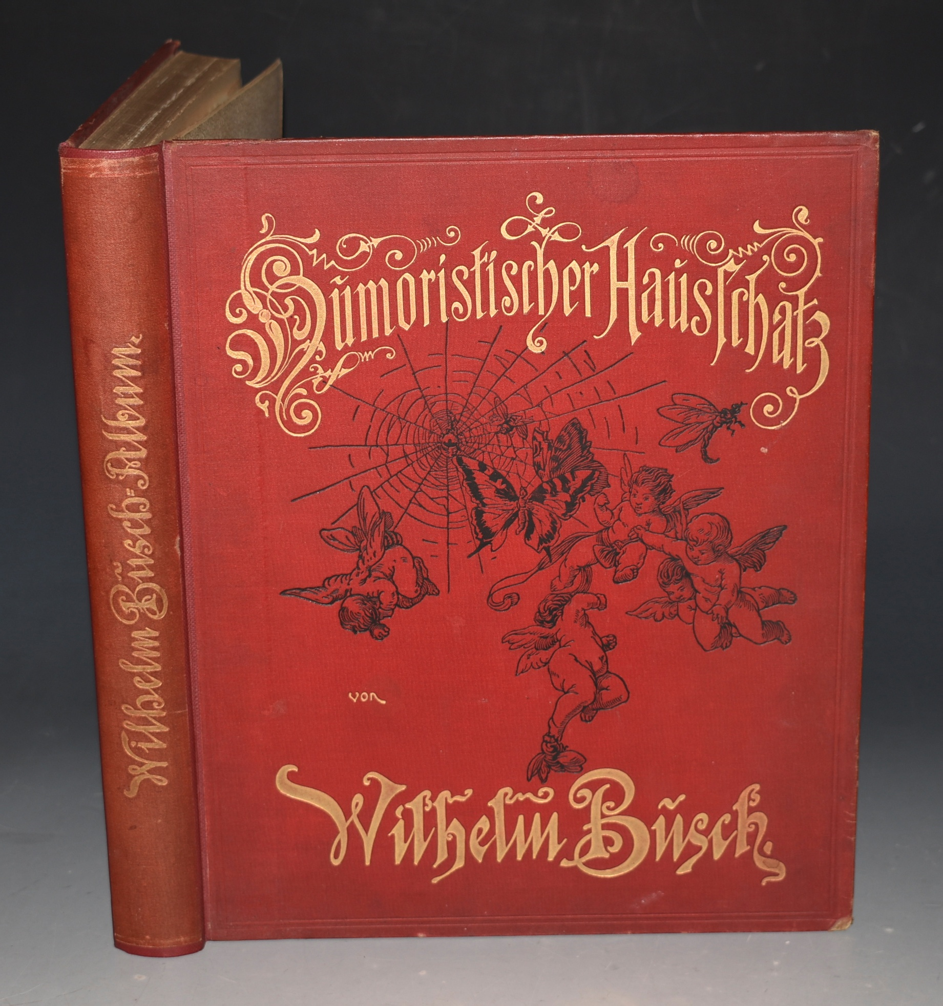 Image for Humoristischer Hausschatz. Sammlung der beliebtesten Schriften. Mit 1500 Bildern. (Humorous Treasury. Collection of the best writings, with 1500 pictures by Wilhelm Busch. With the portrait of the author. Fourth edition.)