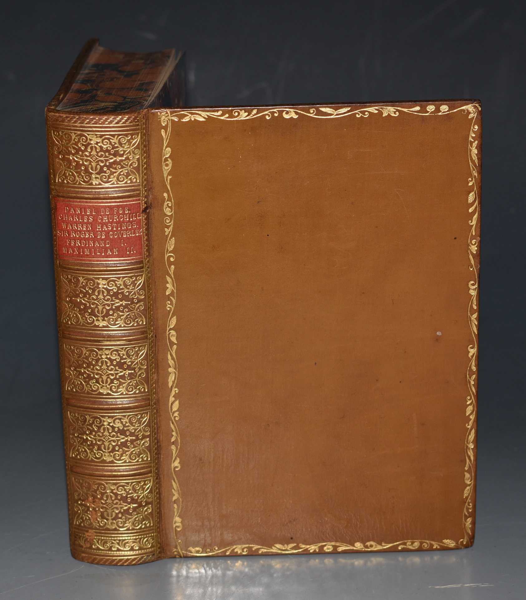 Image for Daniel De Foe and Charles Churchill. Warren Hastings, Sir Roger De Coverly, Ferdinand I and Maximilian II of Austria. Five Volumes in One.
