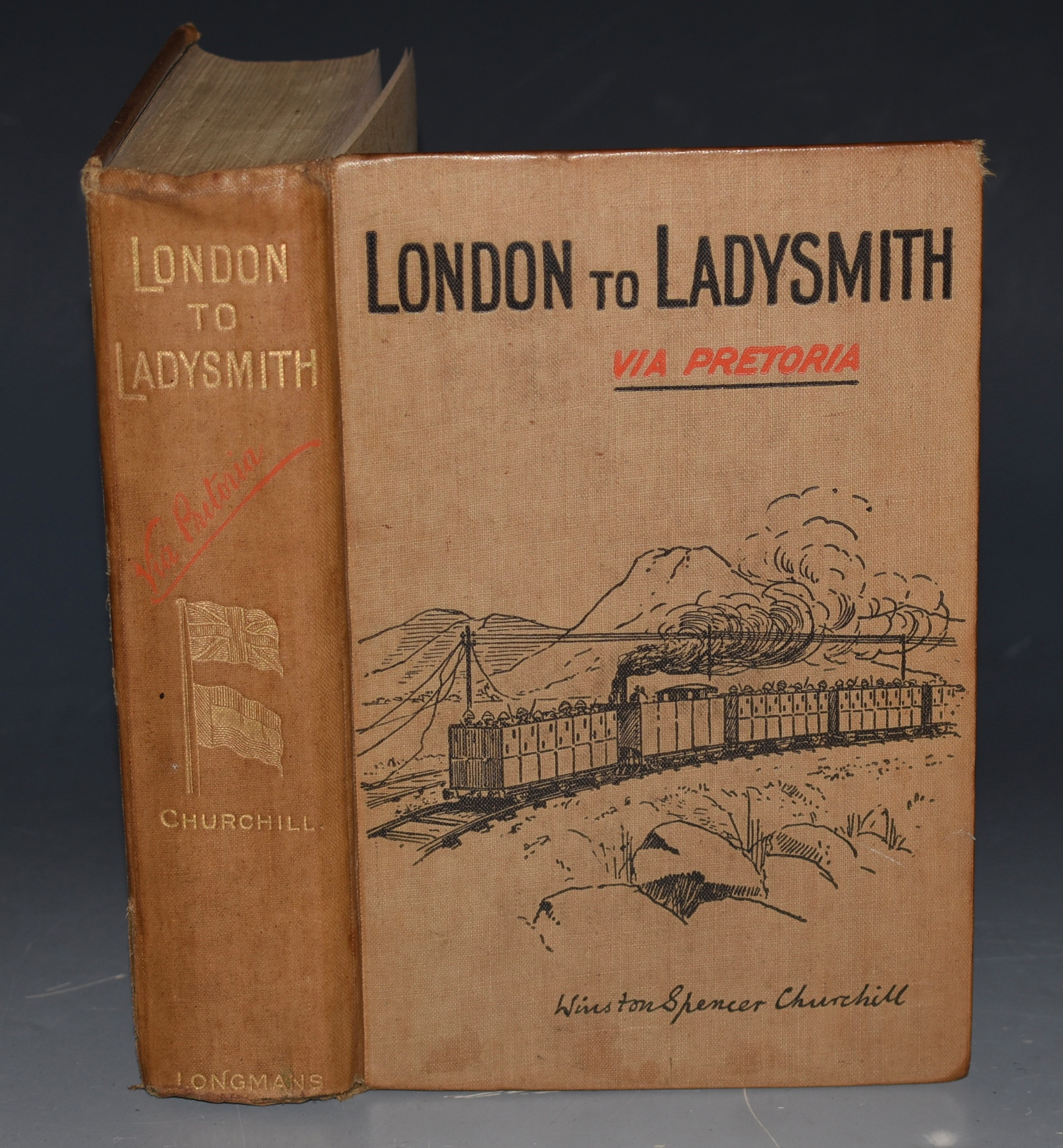 Image for London to Ladysmith via Pretoria. Very Good First Edition Copy with Map.