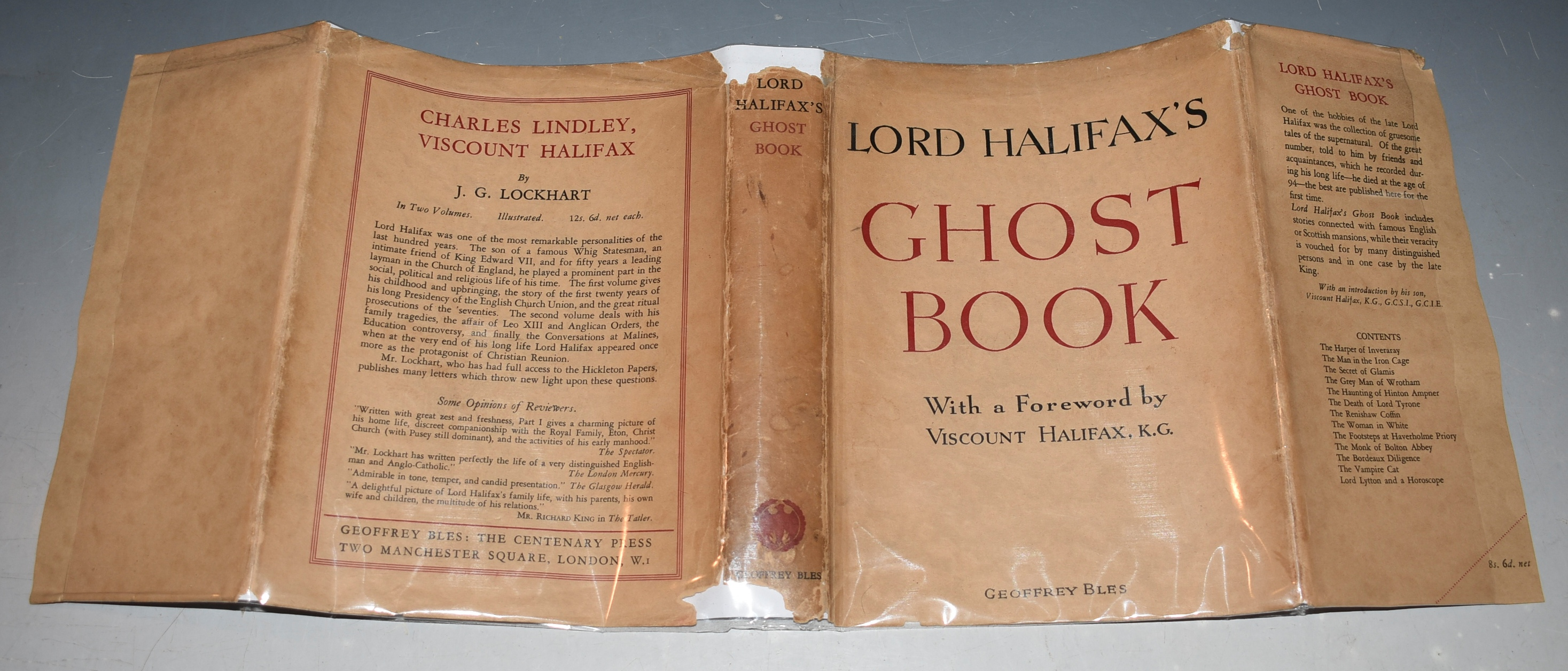 Image for Lord Halifax's Ghost Book A Collection of Stories of Haunted Houses, Apparitions and Supernatural Occurrences made by Charles Lindley, Viscount Halifax. With an Introduction...