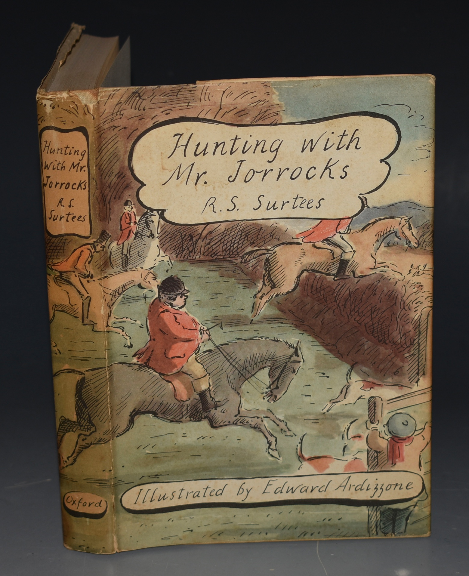 "Image for Hunting with Mr. Jorrocks. From ""Handley Cross"". Edited by Lionel Gough. With Illustrations by Edward Ardizzone."