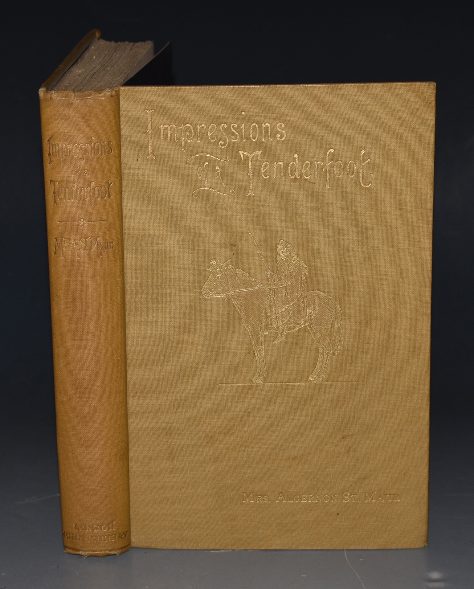 Image for Impressions Of A Tenderfoot. During A Journey In Search Of Sport In The Far West. With Map and Illustrations. SIGNED COPY.
