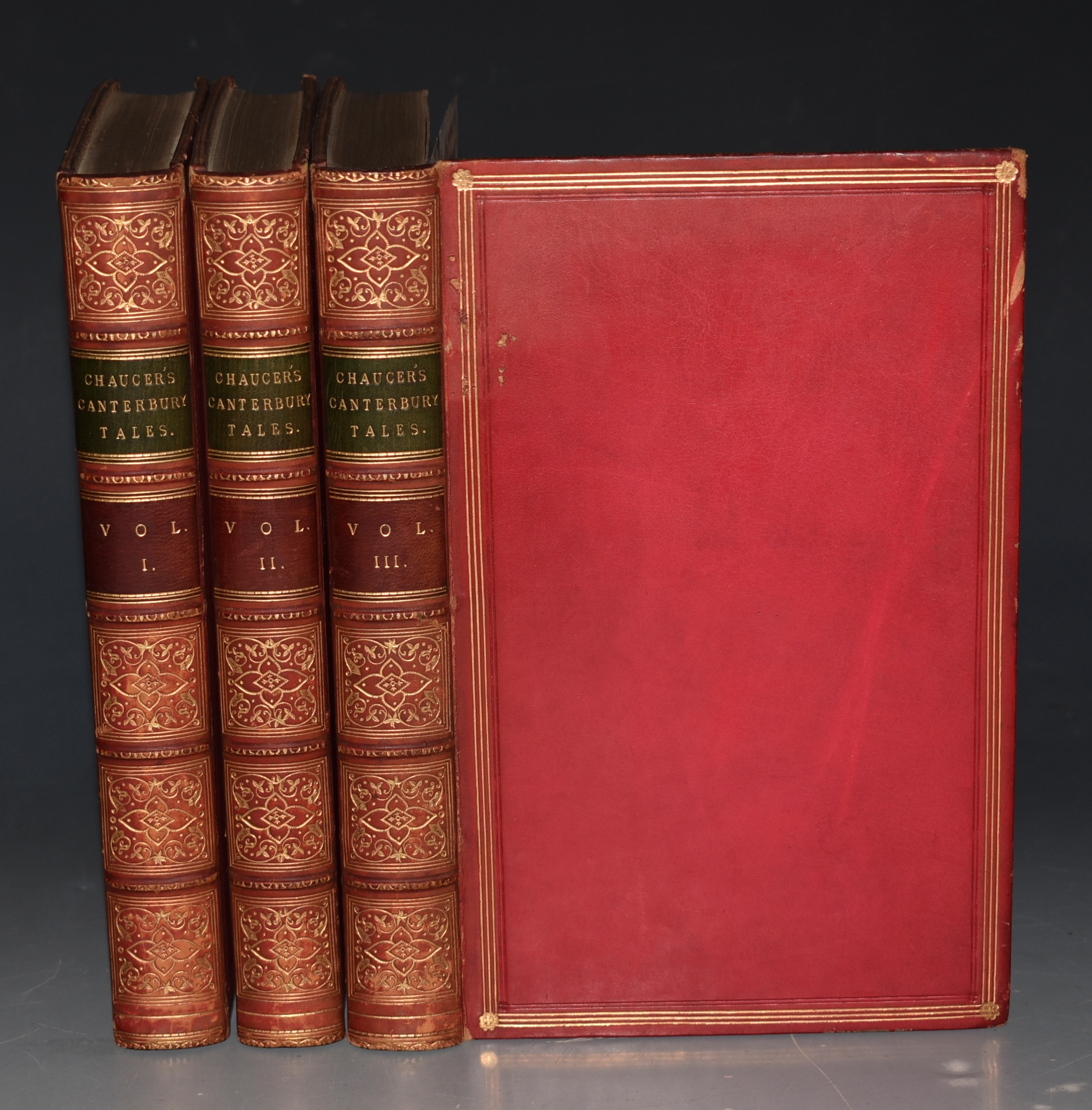Image for The Canterbury Tales of Chaucer. An Essay on His Language and Versification, and an Introductory Discourse, together with notes and a Glossary by Thomas Tyrwhitt. With Memoir and Critical Dissertaion, by the Rev. George Gilfillian. The Text Edited by Charles Cowden Clarke. In Three Volumes.