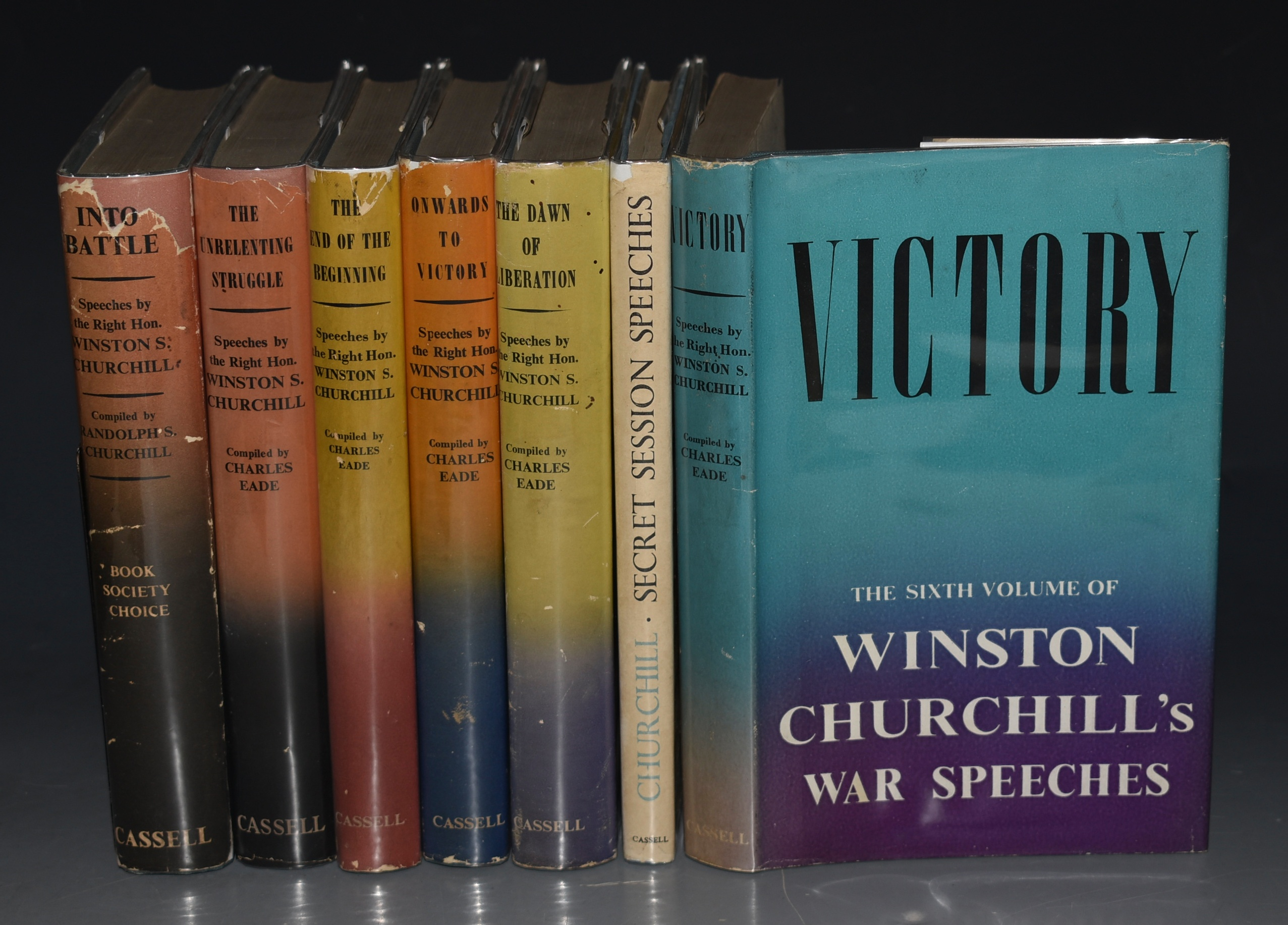 Image for Speeches. In Seven Volumes. Into Battle, The End of the Beginning, The Unrelenting Struggle, Onwards Towards Victory, The Dawn of Liberation, Victory. PLUS: Secret Session Speeches.