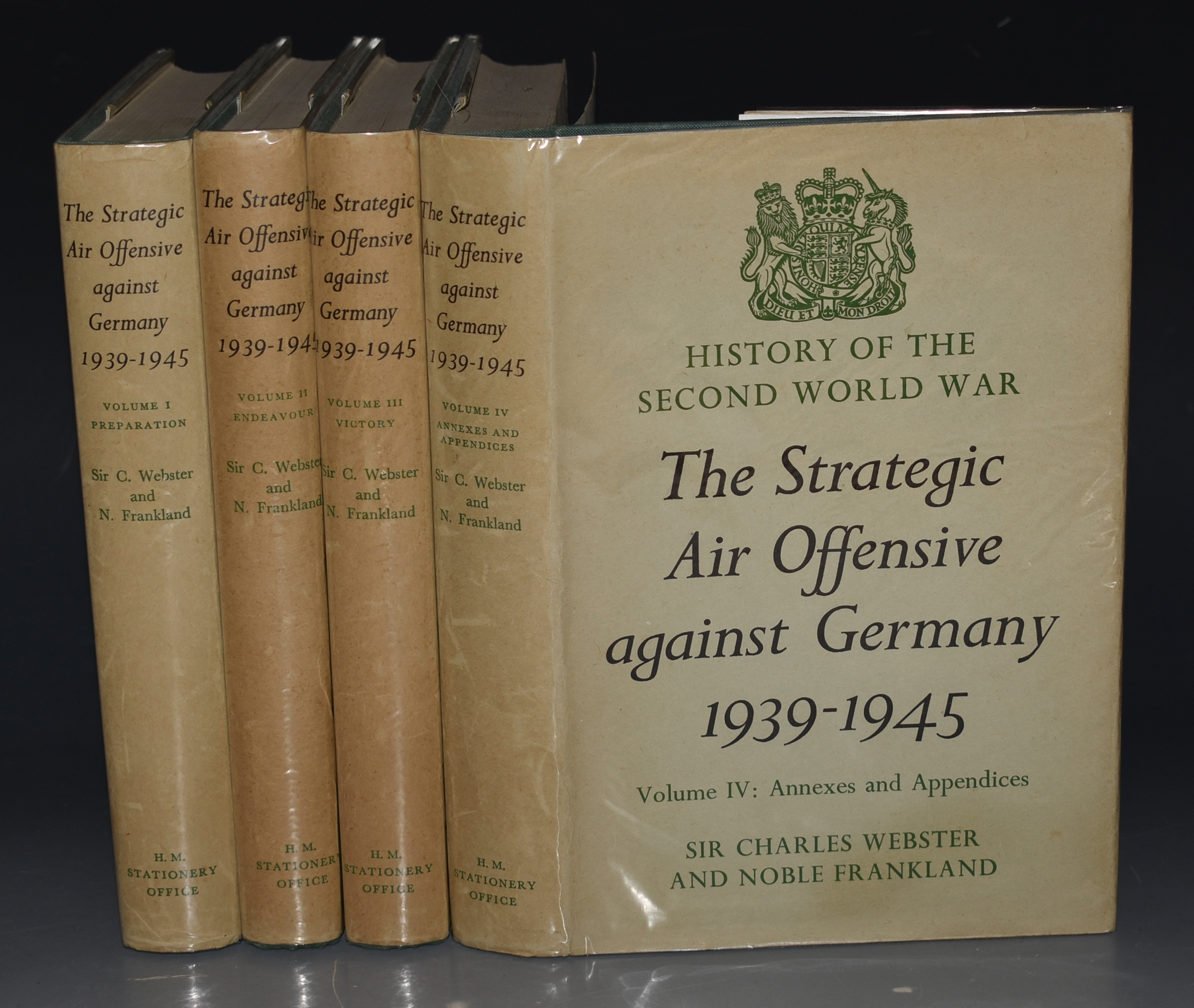 Image for The Strategic Air Offensive Against Germany 1939-1945 Volumes I-IV (complete set: Preparation, Endeavour, Victory, Annexes and Appendices) In Four Volumes.