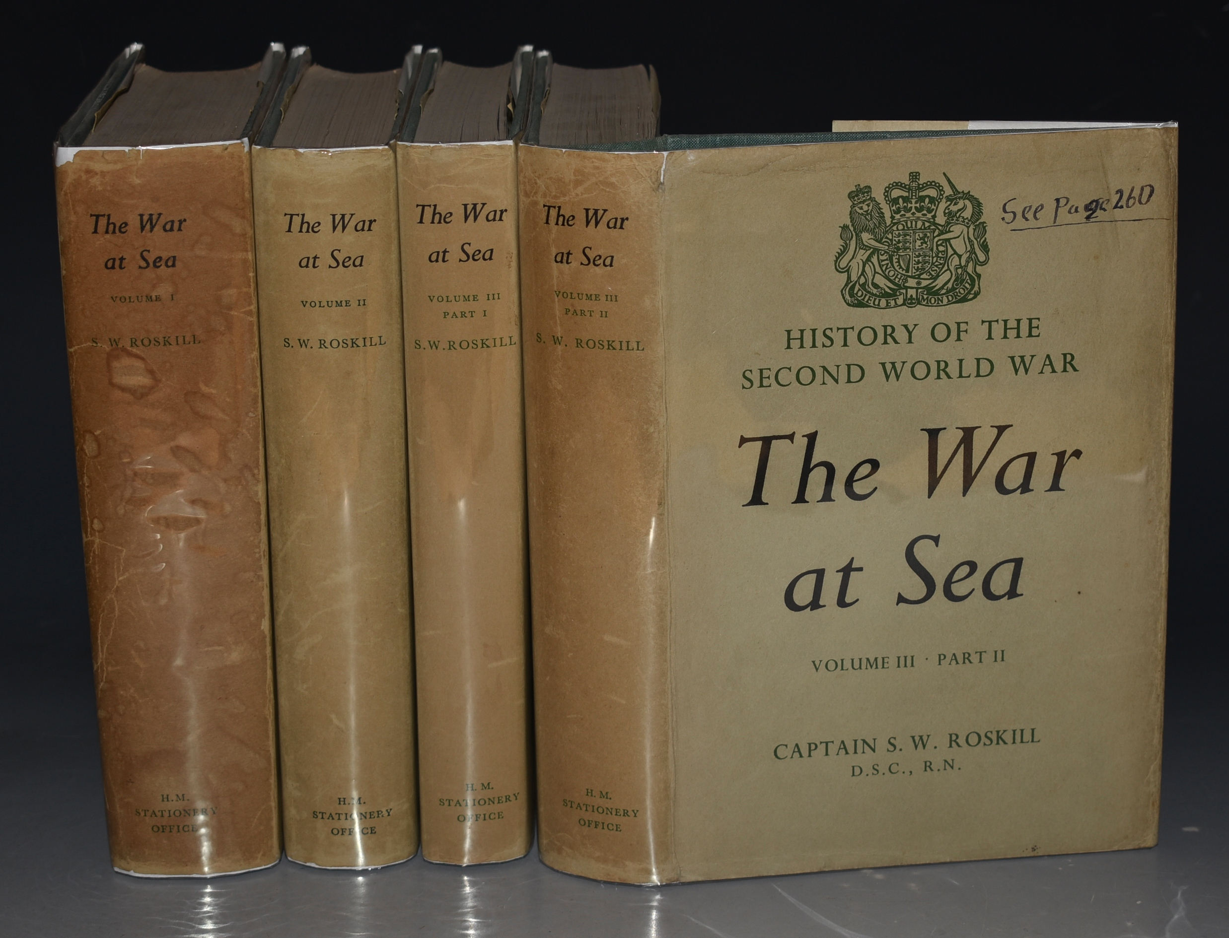 Image for The War at Sea. 1939-1945. Three Volumes bound in Four Parts. History of the Second World War. United Kingdom Military Series. Edited by J. R. M. Butler. WITH SIGNED LETTERS.