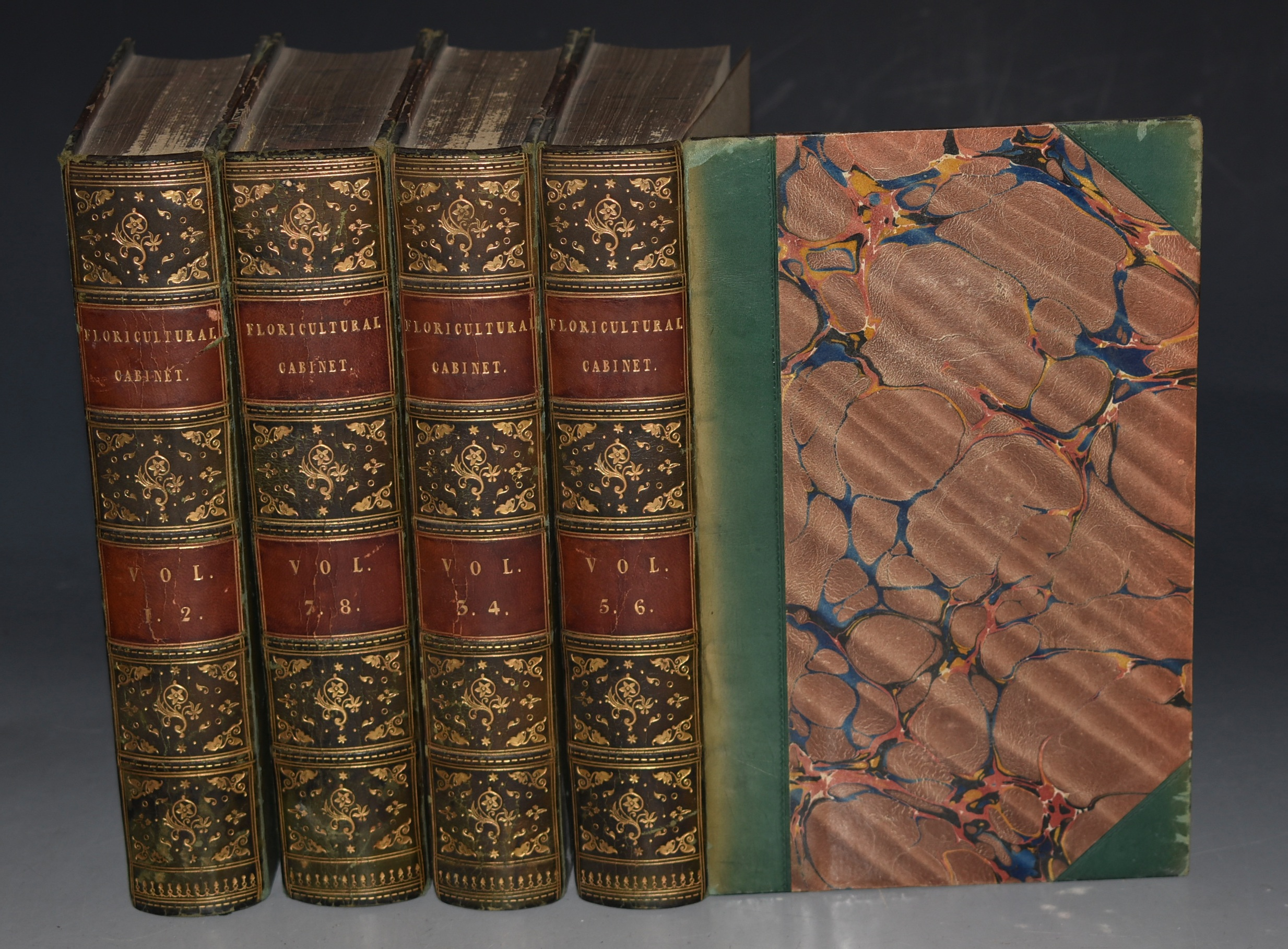 Image for The Floricultural Cabinet and Florist's Magazine. Conducted by Joseph Harrison, Gardner to the Right Hon. Lord Wharncliffe, Wortley Hall. Eight Volumes bound in Four Books.