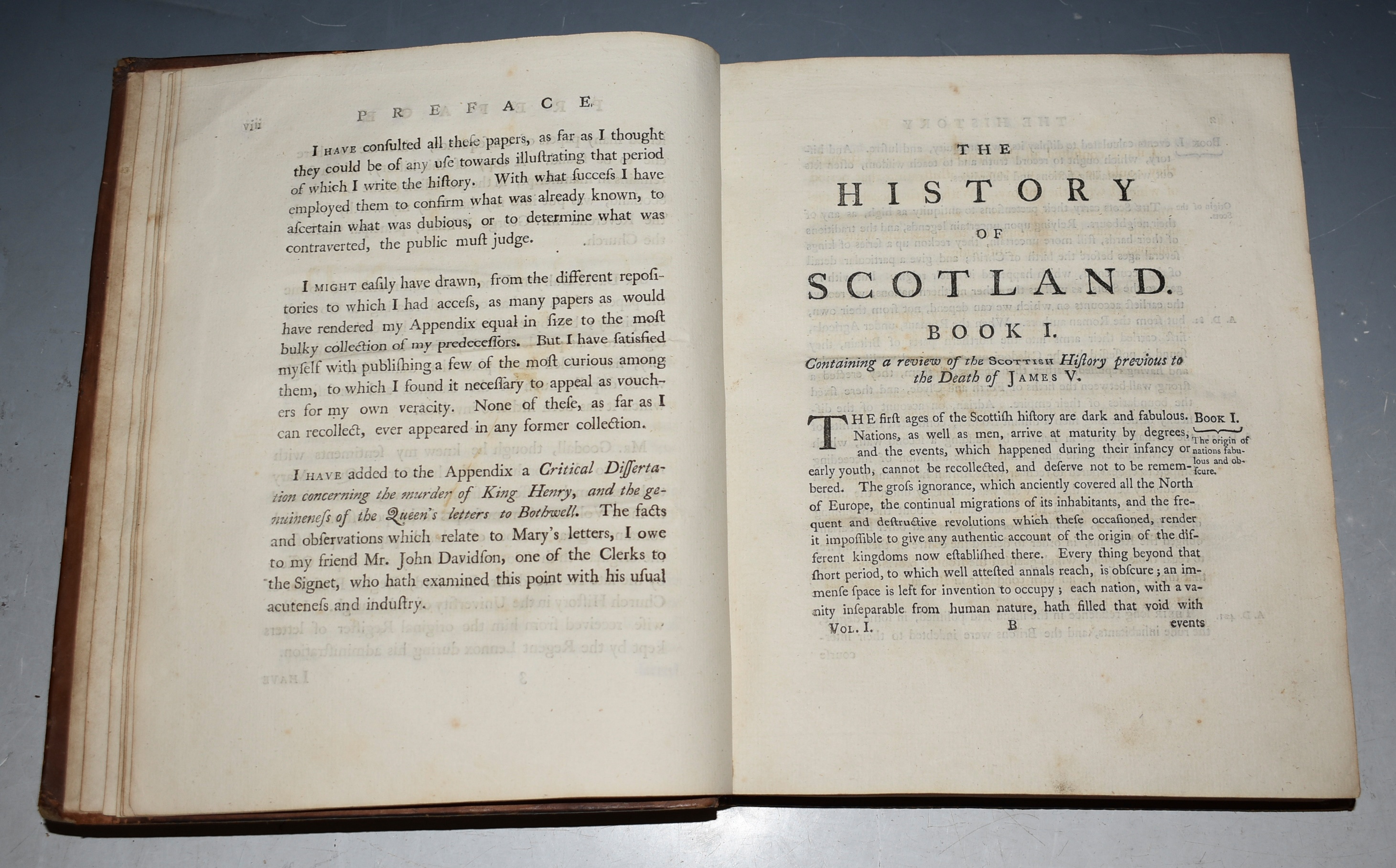 Image for The History of Scotland. During the Reigns of Queen Mary and of King James VI. Till His Accession to the Crown of England. With a Review of the Scottish History previous to that Period. And an Appendix containing original Papers. In Two Volumes. The Third Edition.