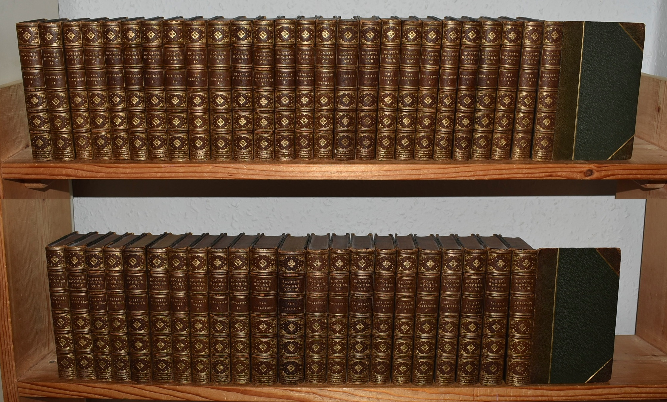 Image for The Waverley Novels. Complete Set in 48 Volumes. Decorative Leather.