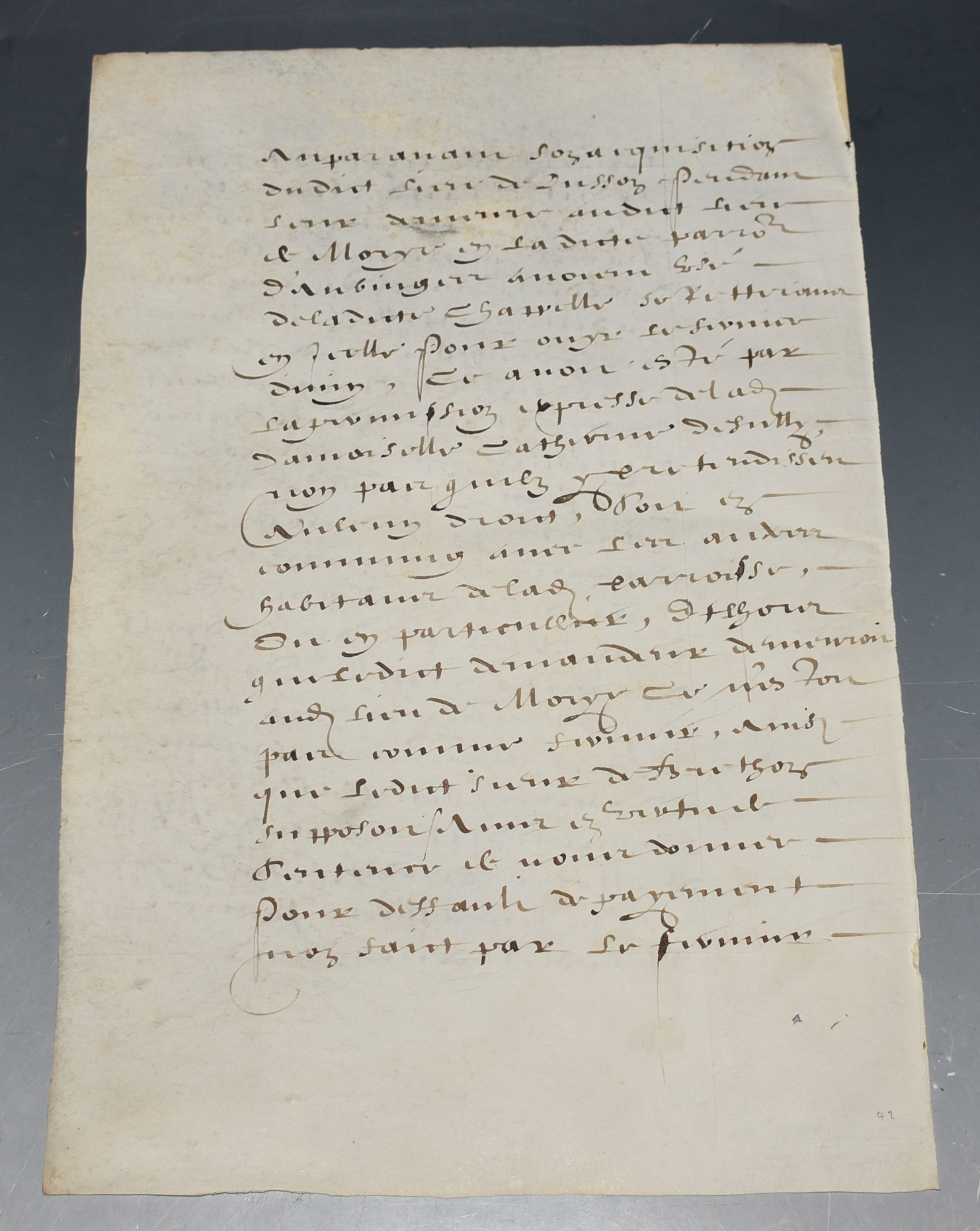 Image for Vellum Leaf French Legal Document