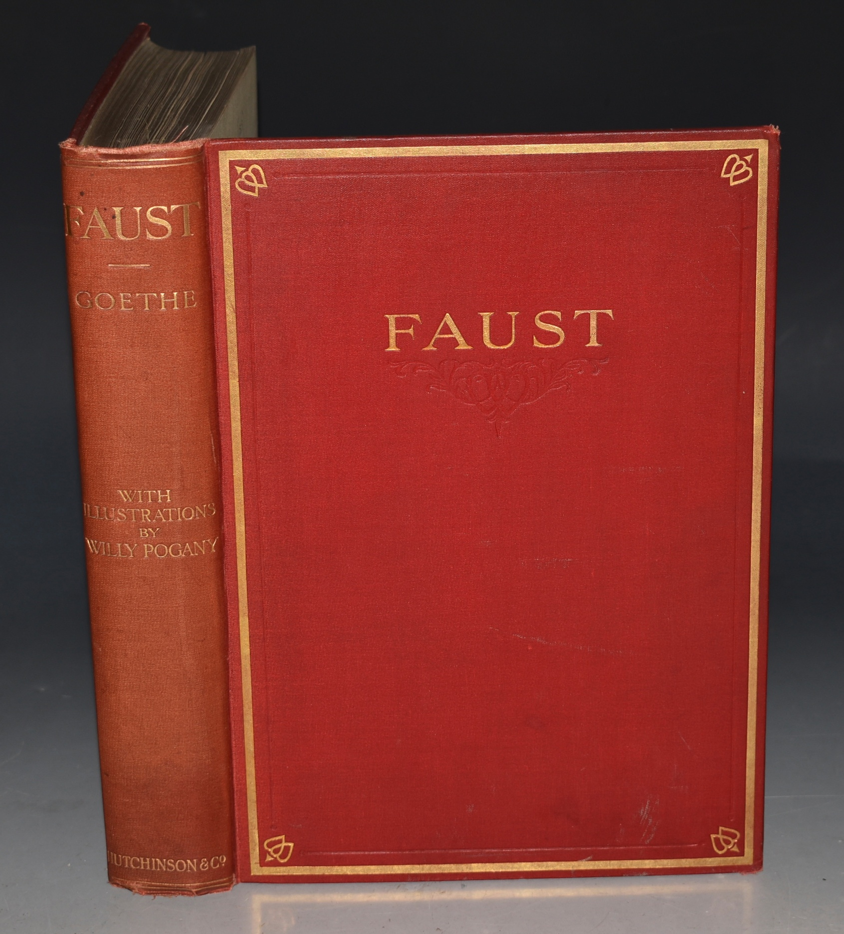 Image for Faust. Translated by Abraham Hayward. Illustrated by William Pogany.