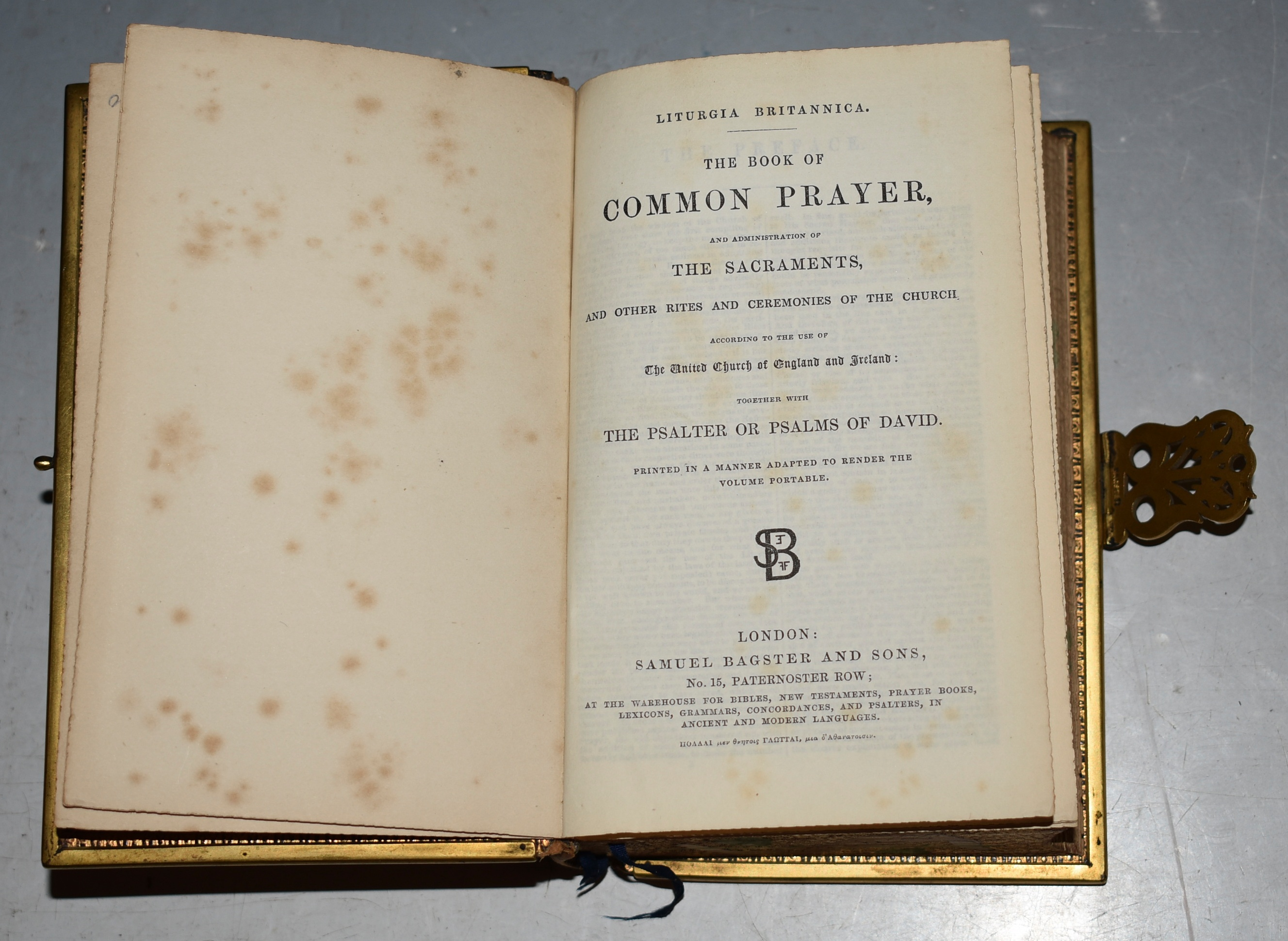 Image for The Book of Common Prayer, with Gauffered Fore-Edge Painting. Together with The Psalter or Psalms of David. The English Version of The Polyglott Bible, Old and New Testaments.
