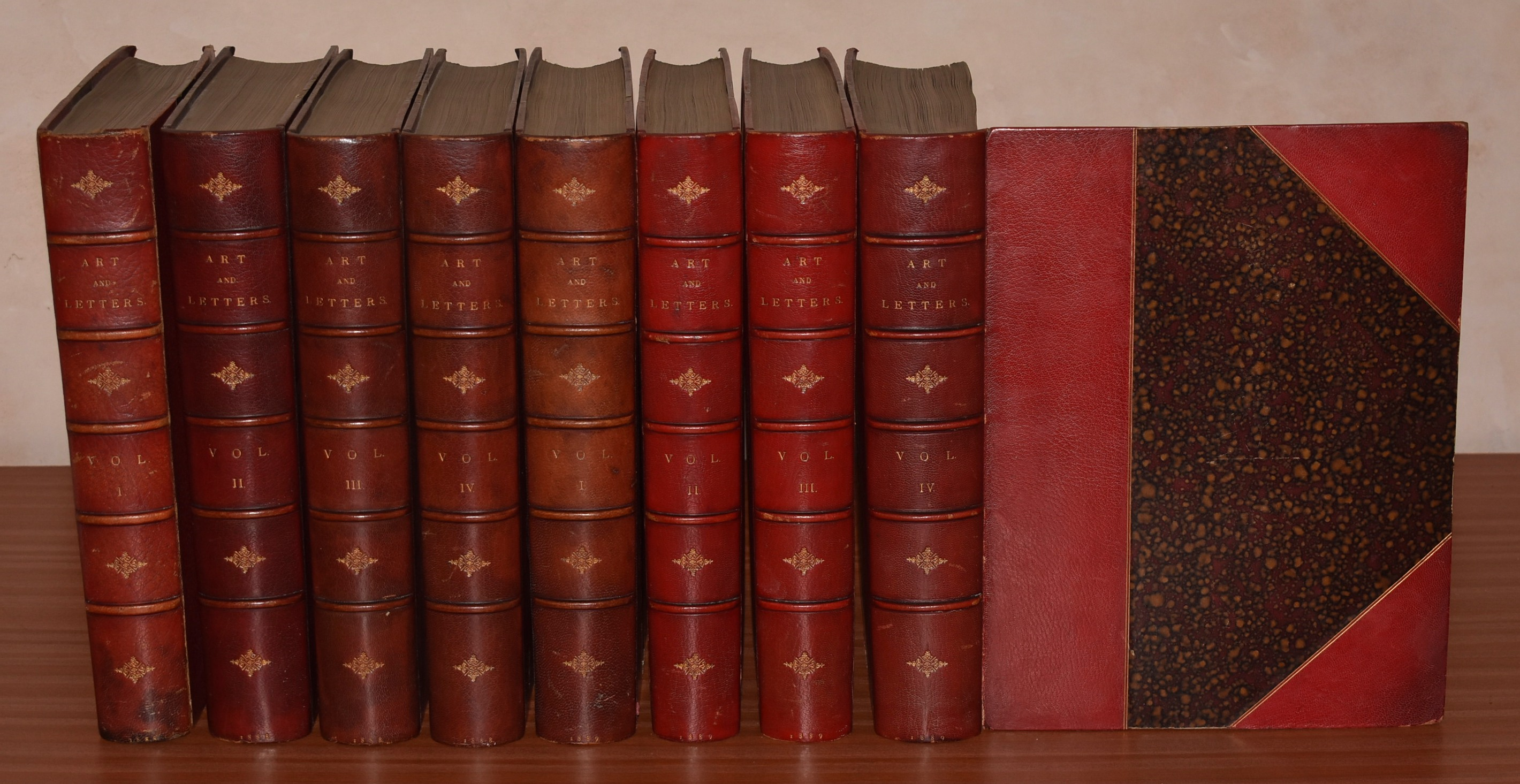 Image for Art and Letters. An Illustrated Review. 1888 & 1889. In Eight Volumes.