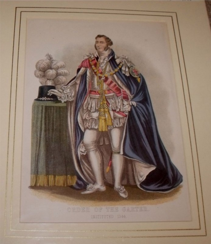 Image for Attractive original engraving of dress for Order of the Garter. Instituted 1344.