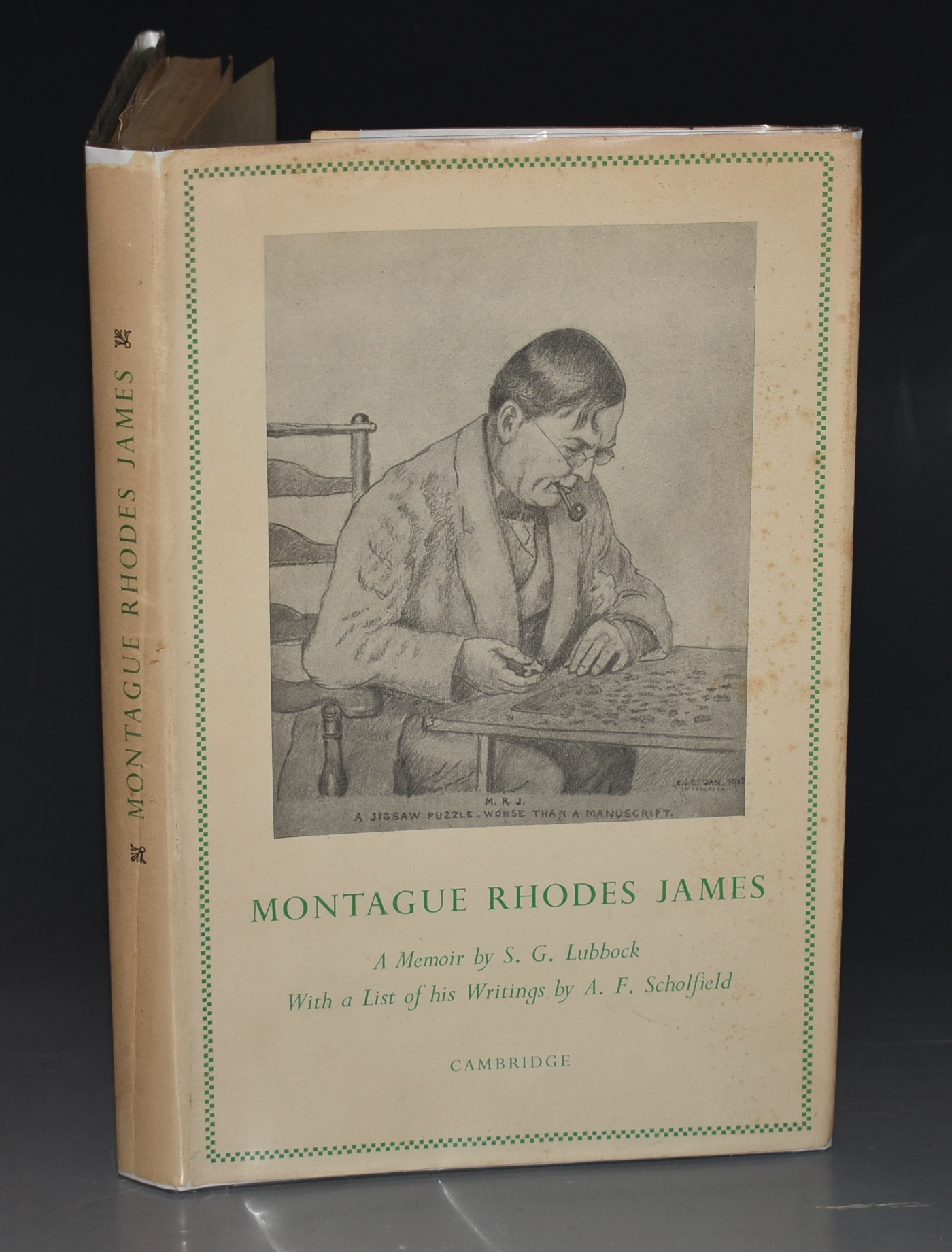 Image for A Memoir of Montague Rhodes James. With a list of his writings by A.F. Scholfield.