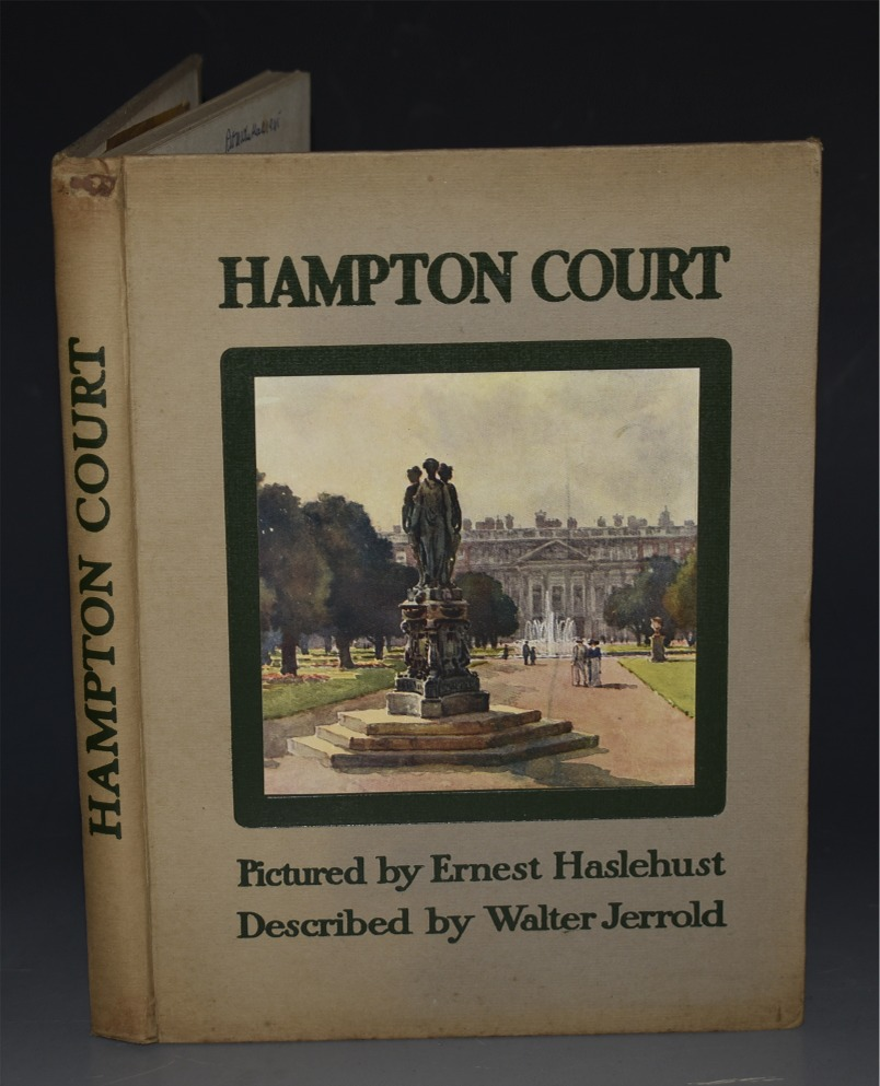 Image for Hampton Court. Described by Walter Jerrold. Pictured by E.W.Haslehurst.