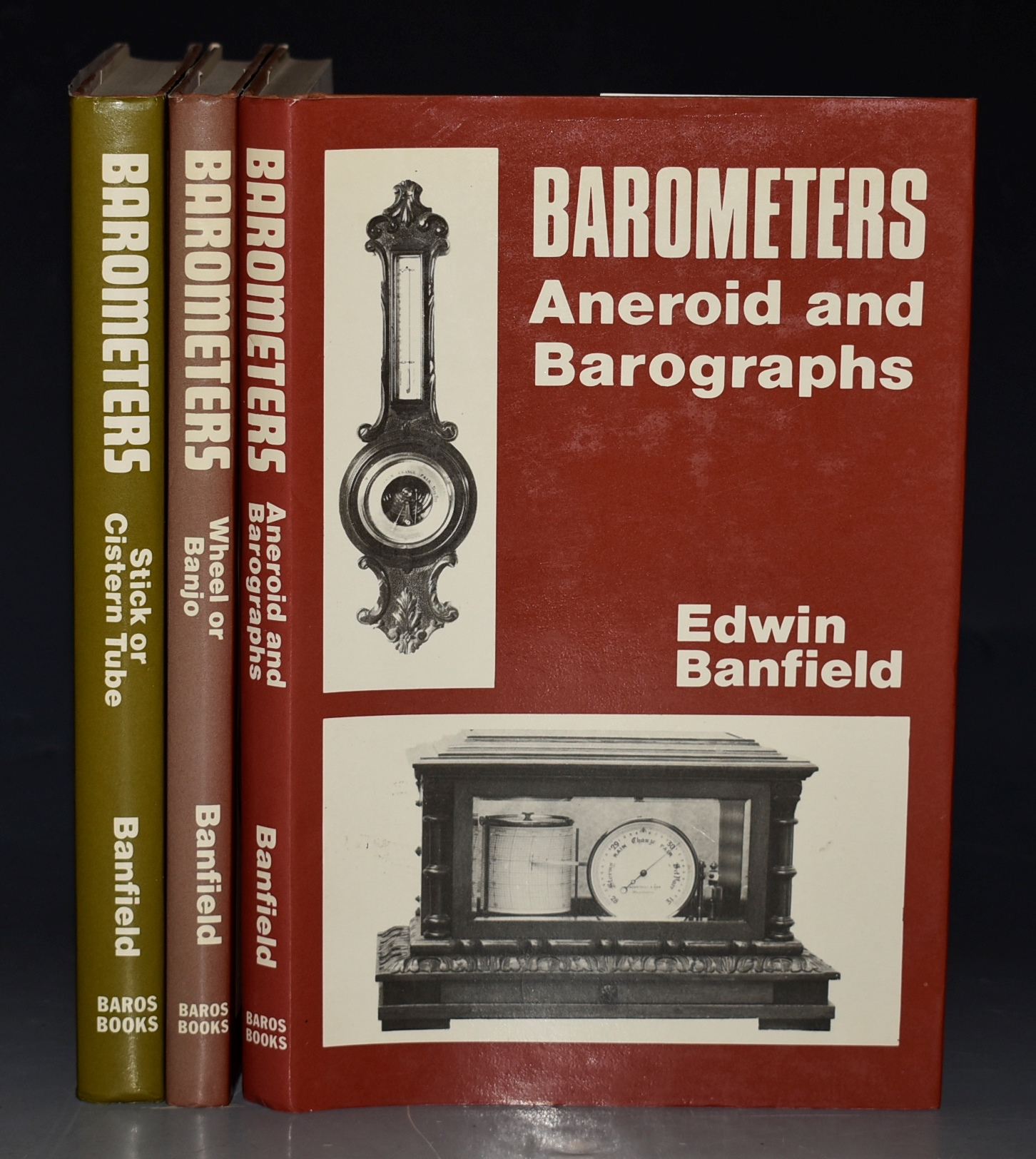 Image for Barometers. Stick or Cistern Tube; Wheel or Banjo; Aneroid and Barographs. Three volumes.