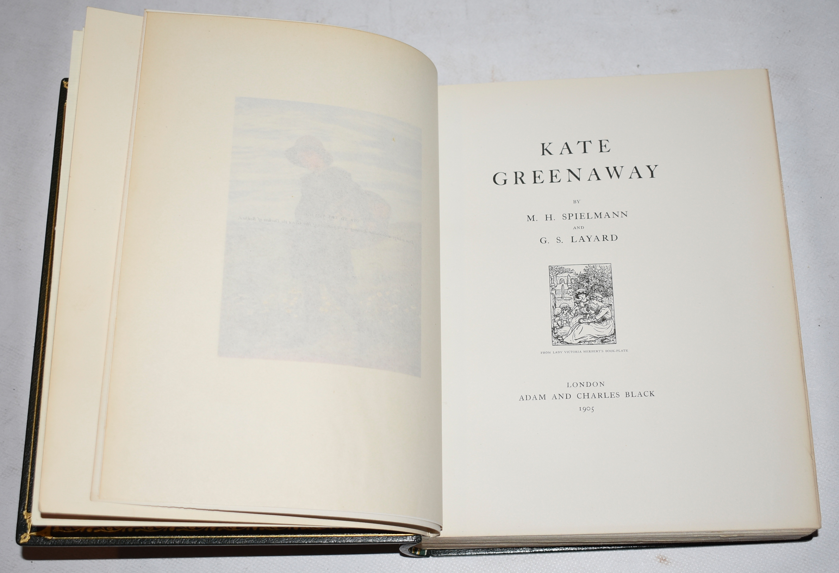 Image for Kate Greenaway. Signed Limited Deluxe Edition in Fine Leather Binding. With Original Artwork.