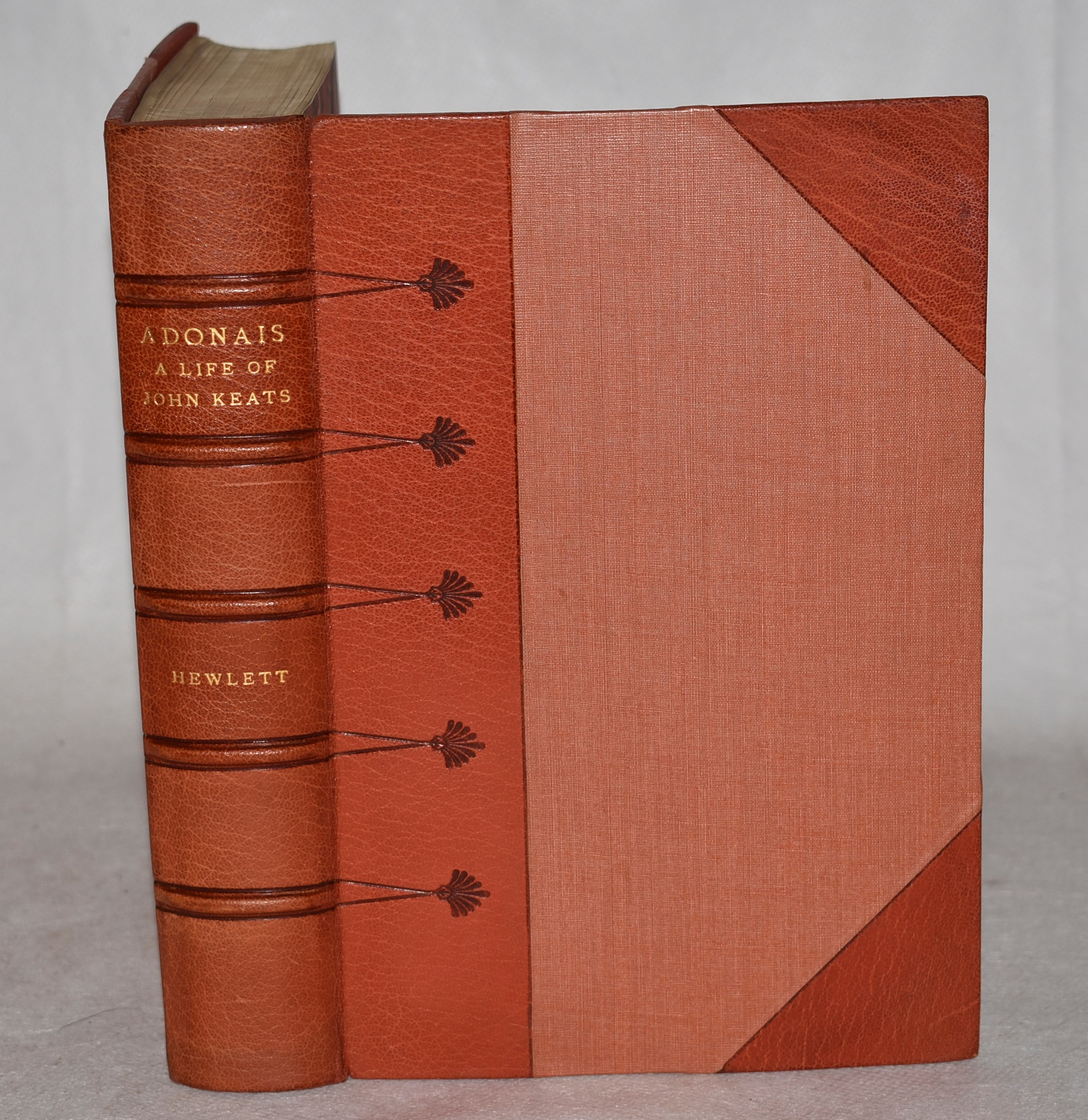 Image for Adonais. A Life of John Keats. Illustrated. In Leather Fine Binding.