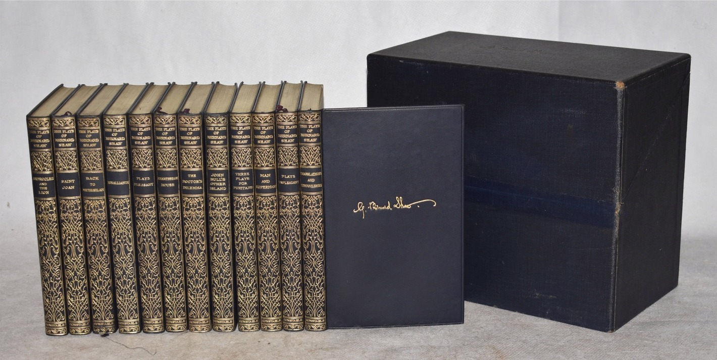 Image for The Plays of Bernard Shaw. Pocket Edition Twelve Volume Set in Wooden Presentation Box-Case.