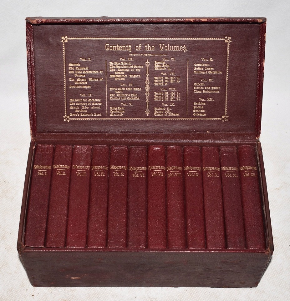 "Image for The Works of William Shakespeare.""Bedford"" Edition. Cased. With Life and Glossary, Carefully Edited from the Best Texts. In Twelve Volumes. The ""Bedford"" Edition. In leather box presentation case."