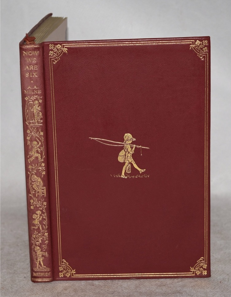 Image for Now We are Six. By A. A. Milne with Decorations by Ernest H. Shepard. First Edition in Leather Binding.